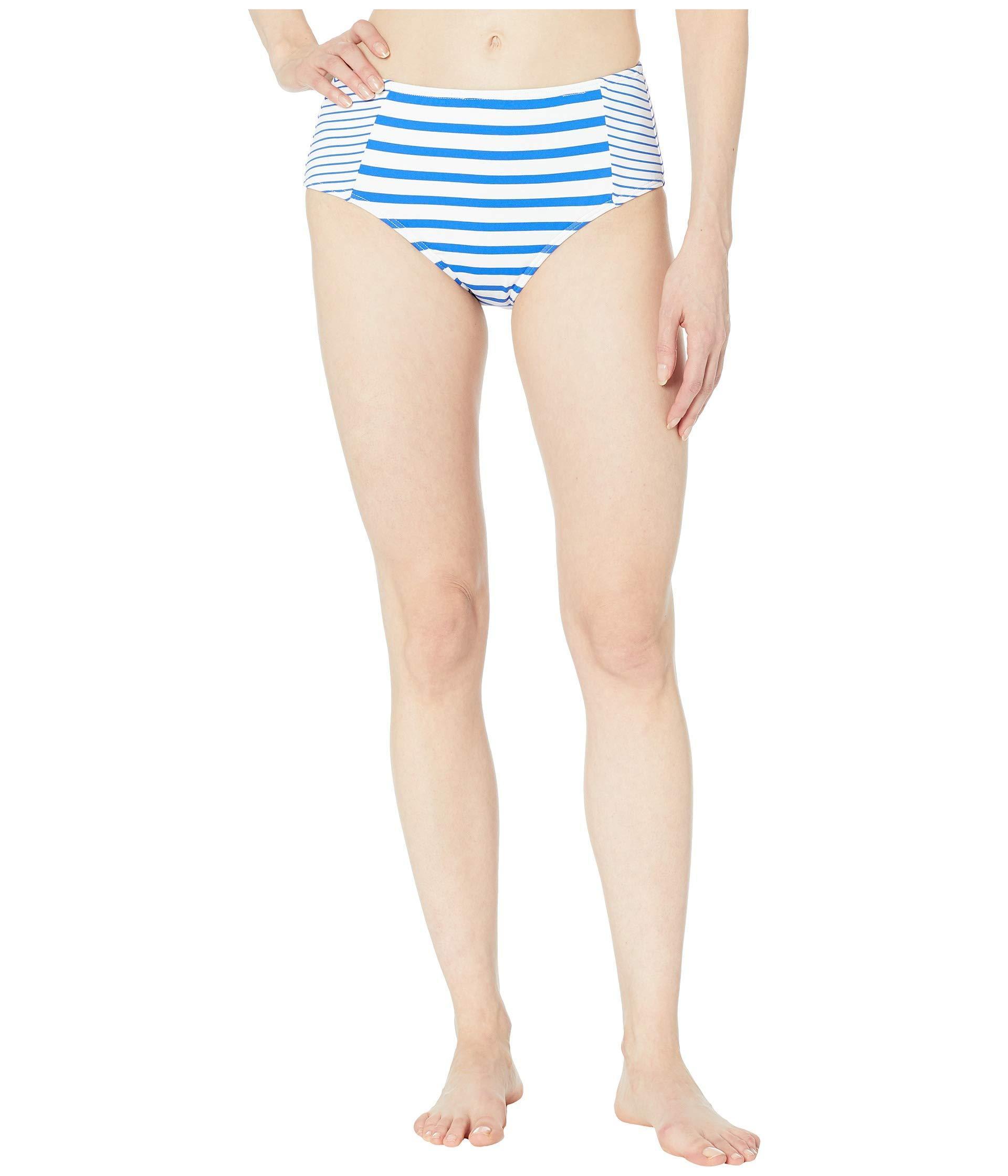 0bb30fa3a8 Tommy Bahama. Beach Glass Stripe High-waisted Bottoms (beach Glass Blue) Women's  Swimwear