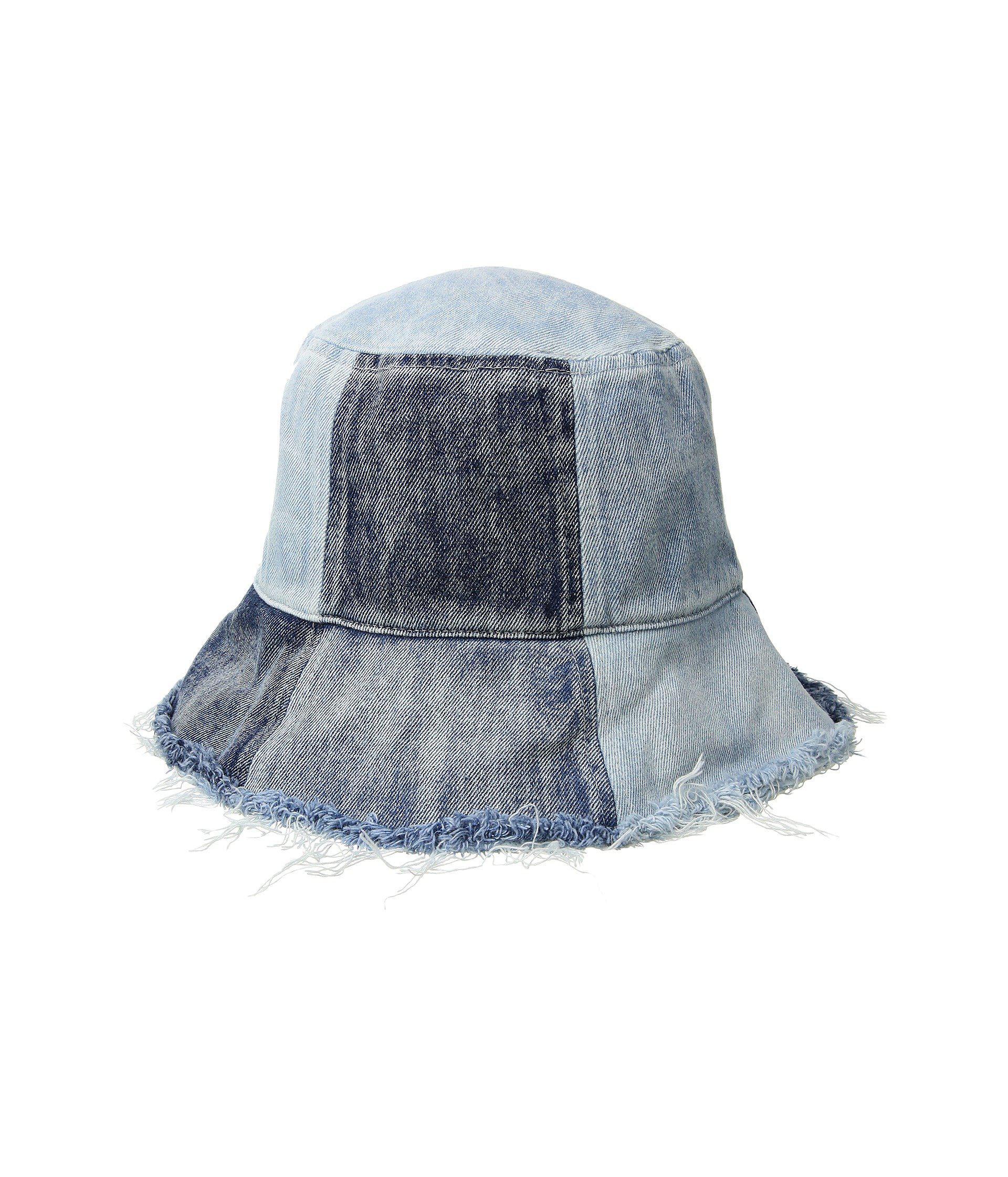 d15e9efe676 Lyst - BCBGeneration Patched Denim Bucket (denim) Caps in Blue