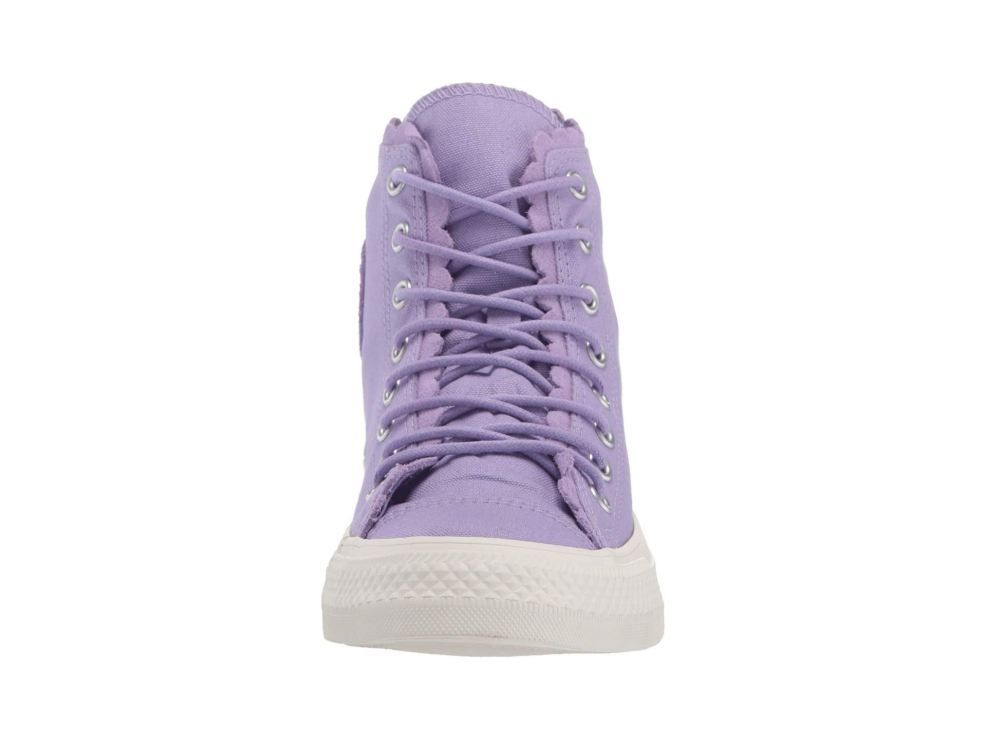82d7a6ce1cfb56 Converse - Purple Chuck Taylor All Star Frilly Thrills Canvas - Hi (washed  Lilac . View fullscreen