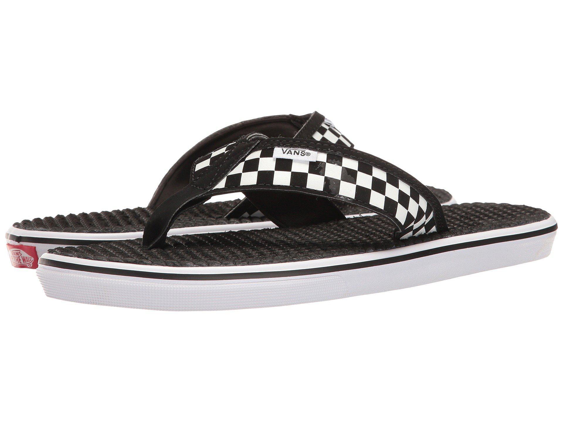 29382426983 Vans - La Costa Lite ((checkerboard) Black white) Men s Sandals for. View  fullscreen