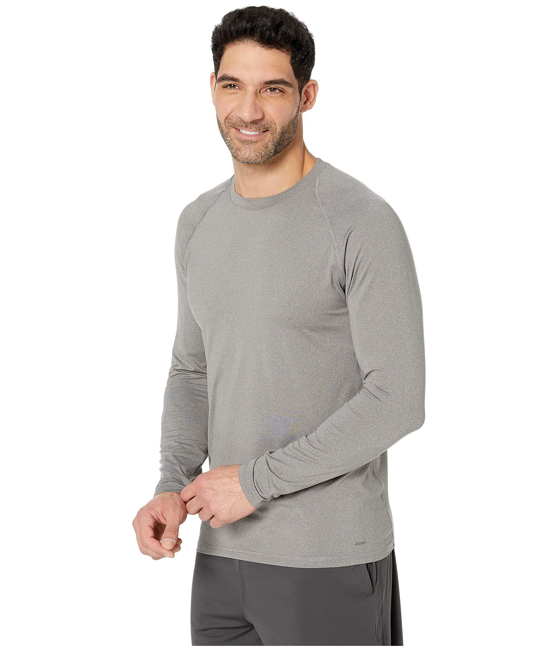 b47b313eef96 Lyst - Jockey Active Long Sleeve Sport Top (black) Men s Workout in Gray  for Men