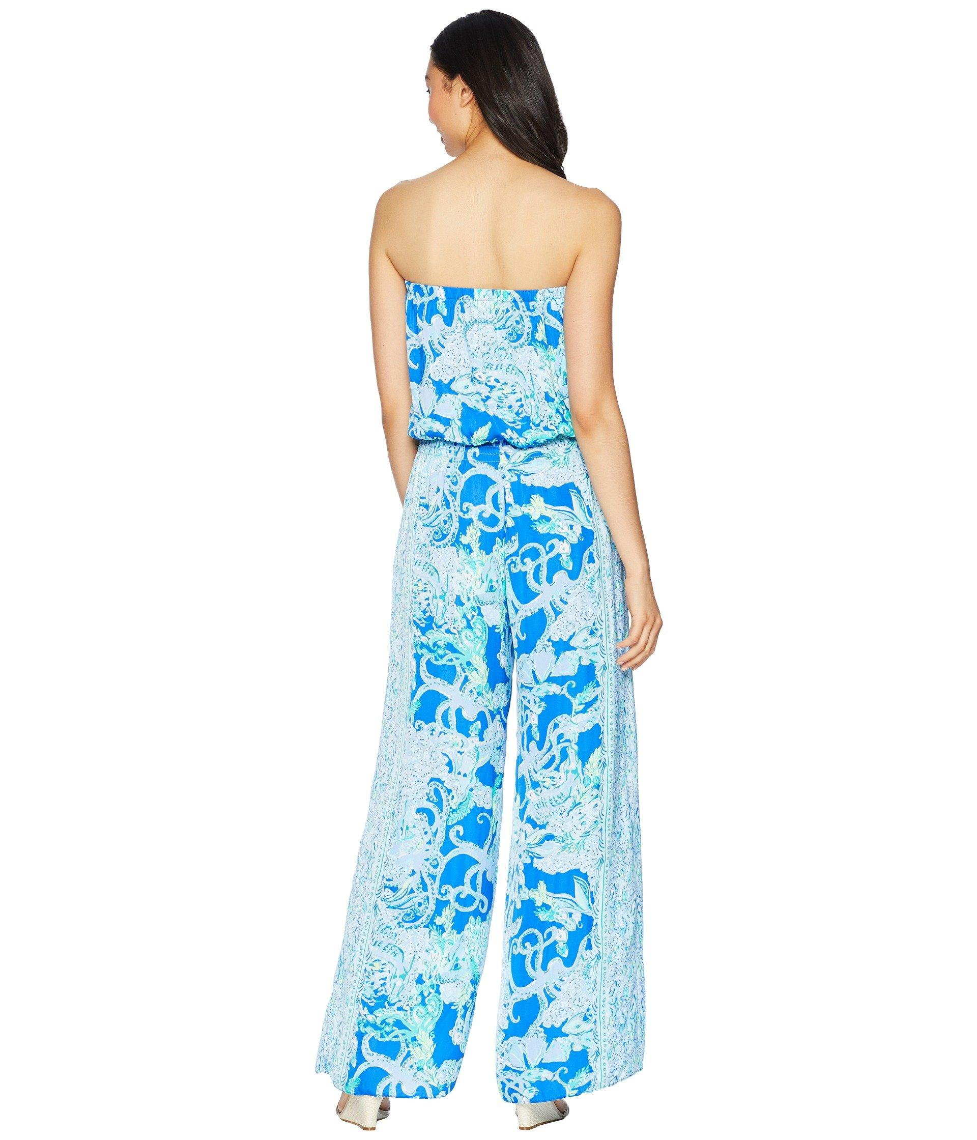 4dd279edade7 Lyst - Lilly Pulitzer Pim Jumpsuit (blue Grotto So Offishal) Women s ...