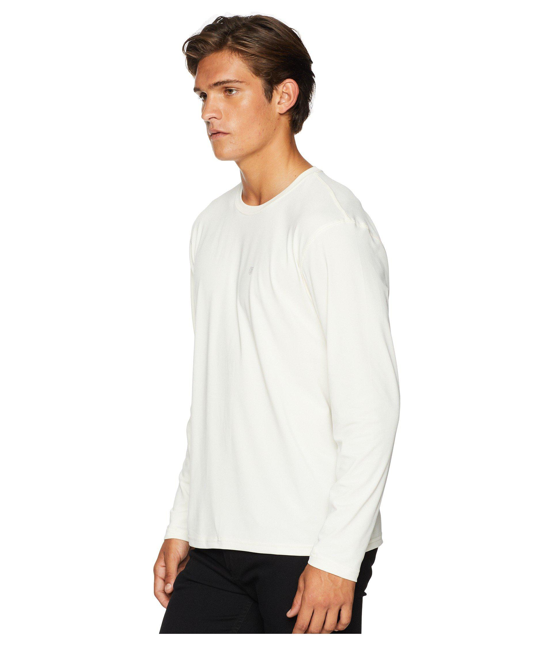 2377b8b9ae327 ... germany lyst brixton trek long sleeve knit navy mens clothing in white  for men 8a9be fc014