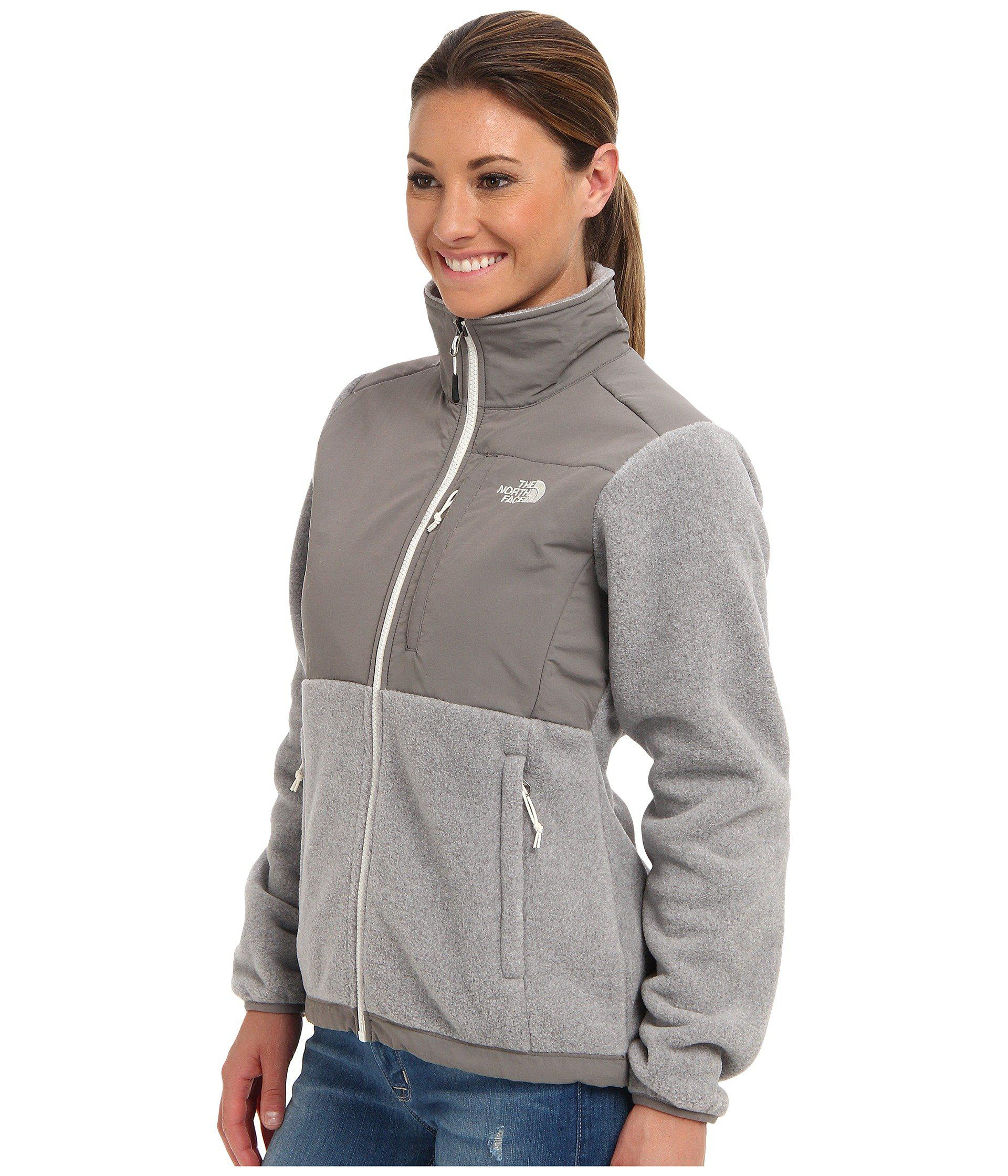 496928fb0ab8 ... sale lyst the north face denali jacket recycled high rise grey heather  2ab6a 4ad9f