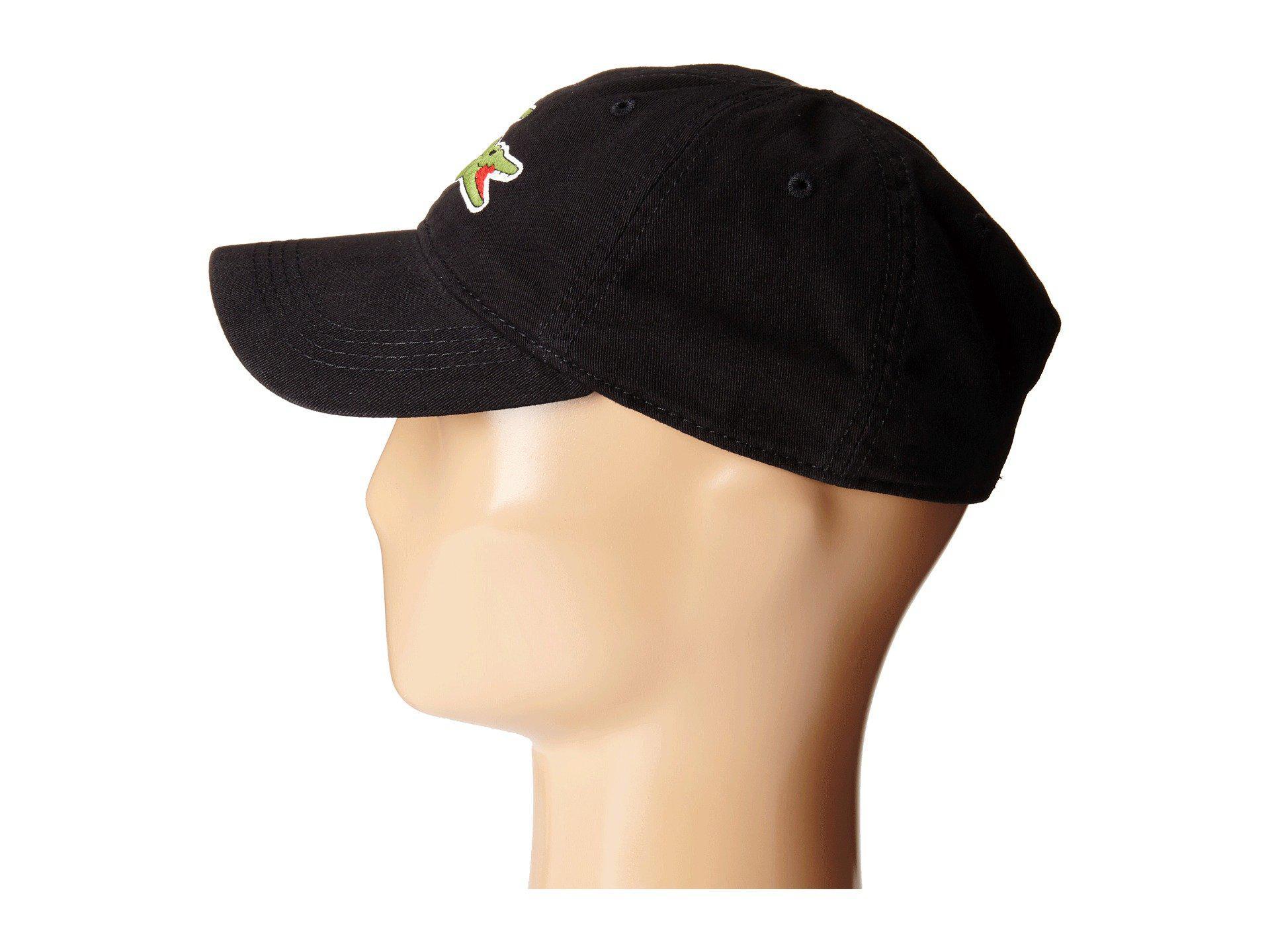 6916a7cac Lacoste - Black Big Croc Gabardine Cap (sinople) Baseball Caps for Men -  Lyst. View fullscreen