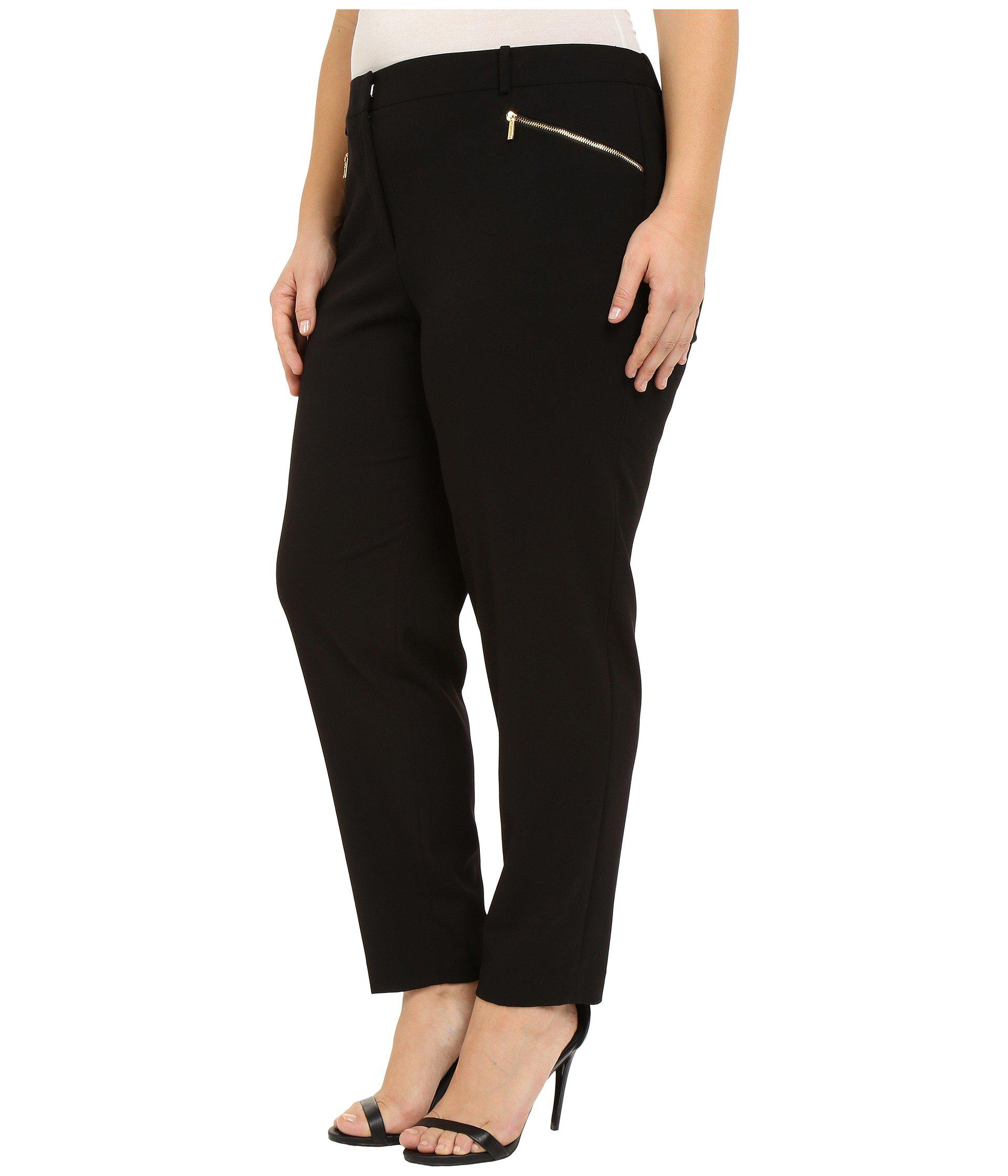 274db51f4e2 Lyst - Calvin Klein Plus Size Skinny Pants With Zippers (black) Women s  Casual Pants in Black