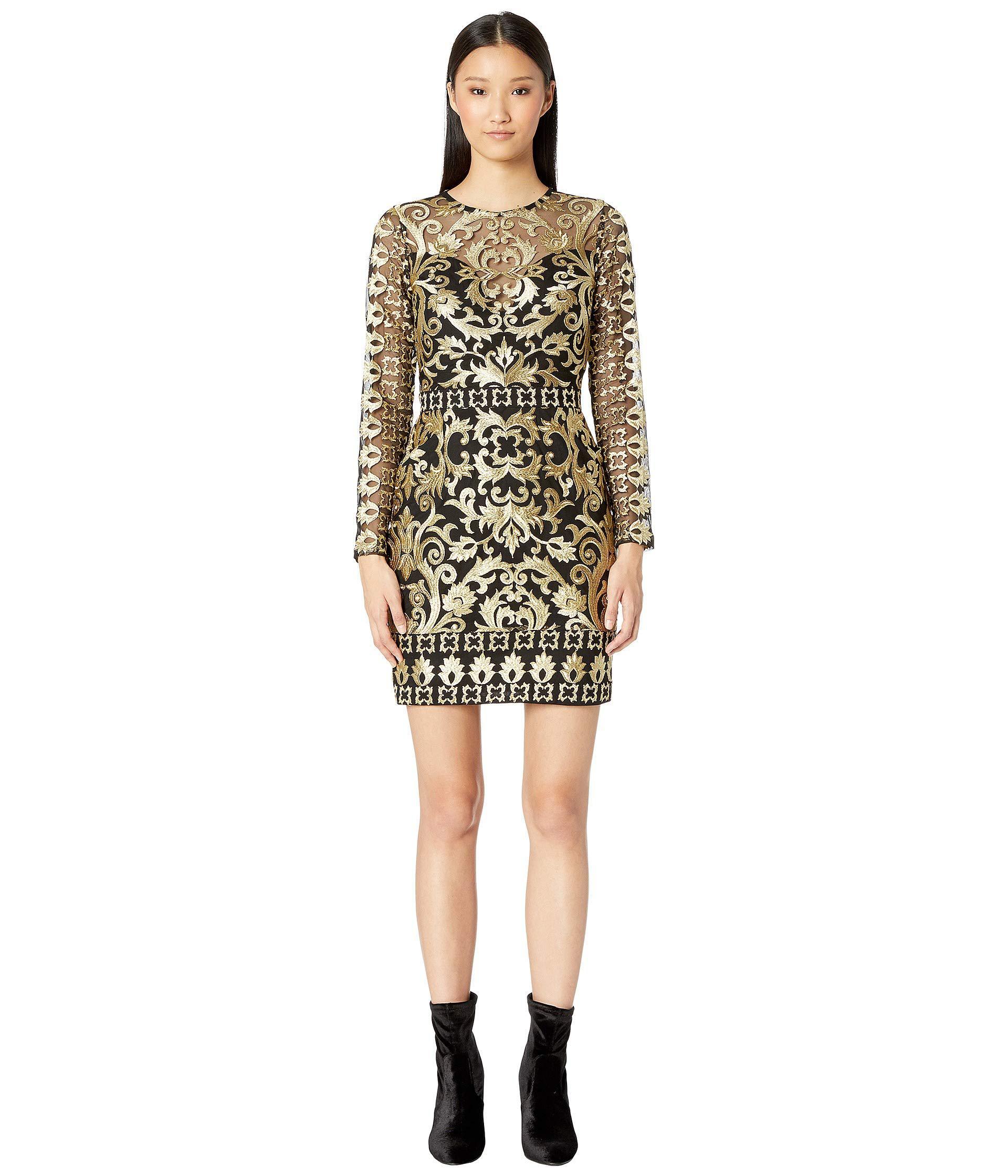 Long Sleeve Illusion Dress