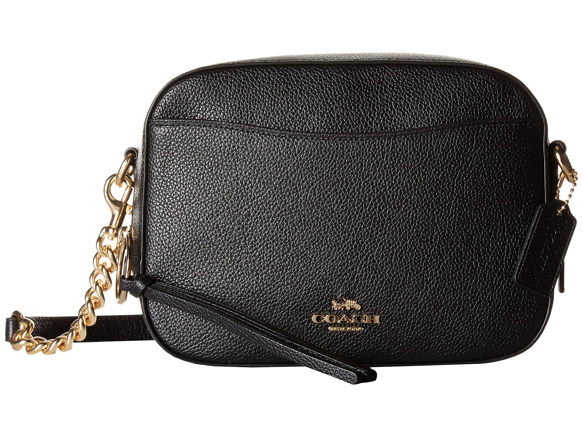 ... france lyst coach camera bag in polished pebble leather li black 2c1be  2bed0 787a9cf7f7419