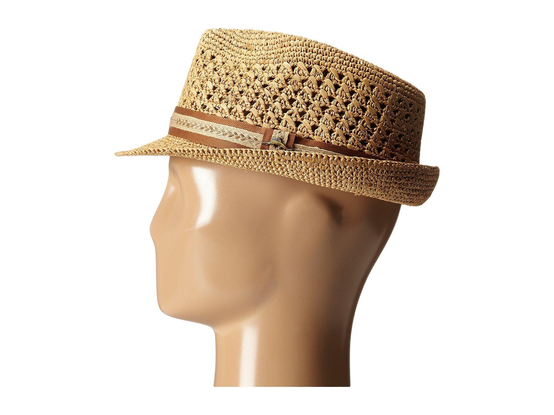 3cb4b3694249c Tommy Bahama - Brown Vent Crochet Raffia Fedora (tea 1) Fedora Hats for  Men. View fullscreen