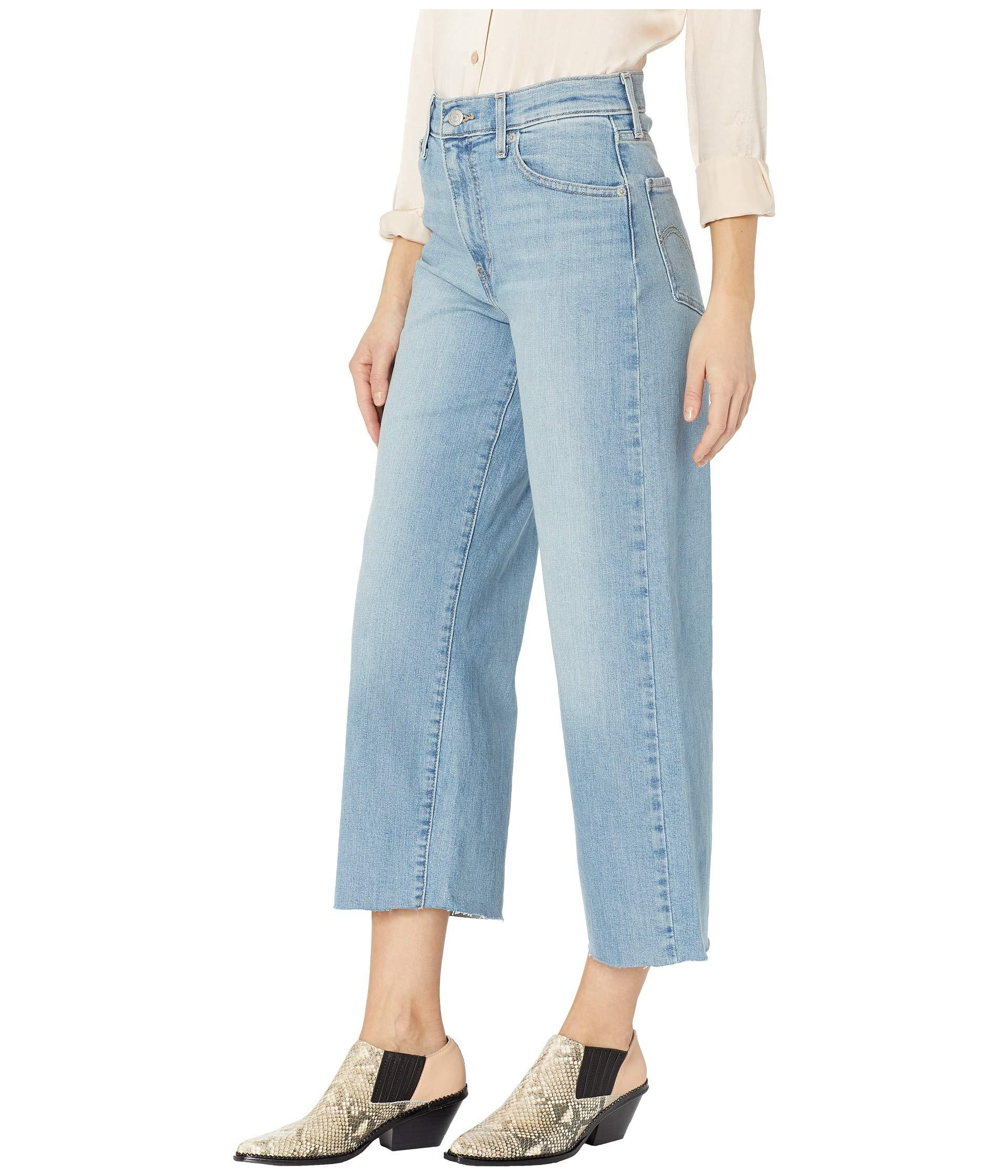 133679a7340f Lyst - Levi s Levi s(r) Womens Mile High Wide Leg Crop (static Noise)  Women s Jeans in Blue - Save 2%