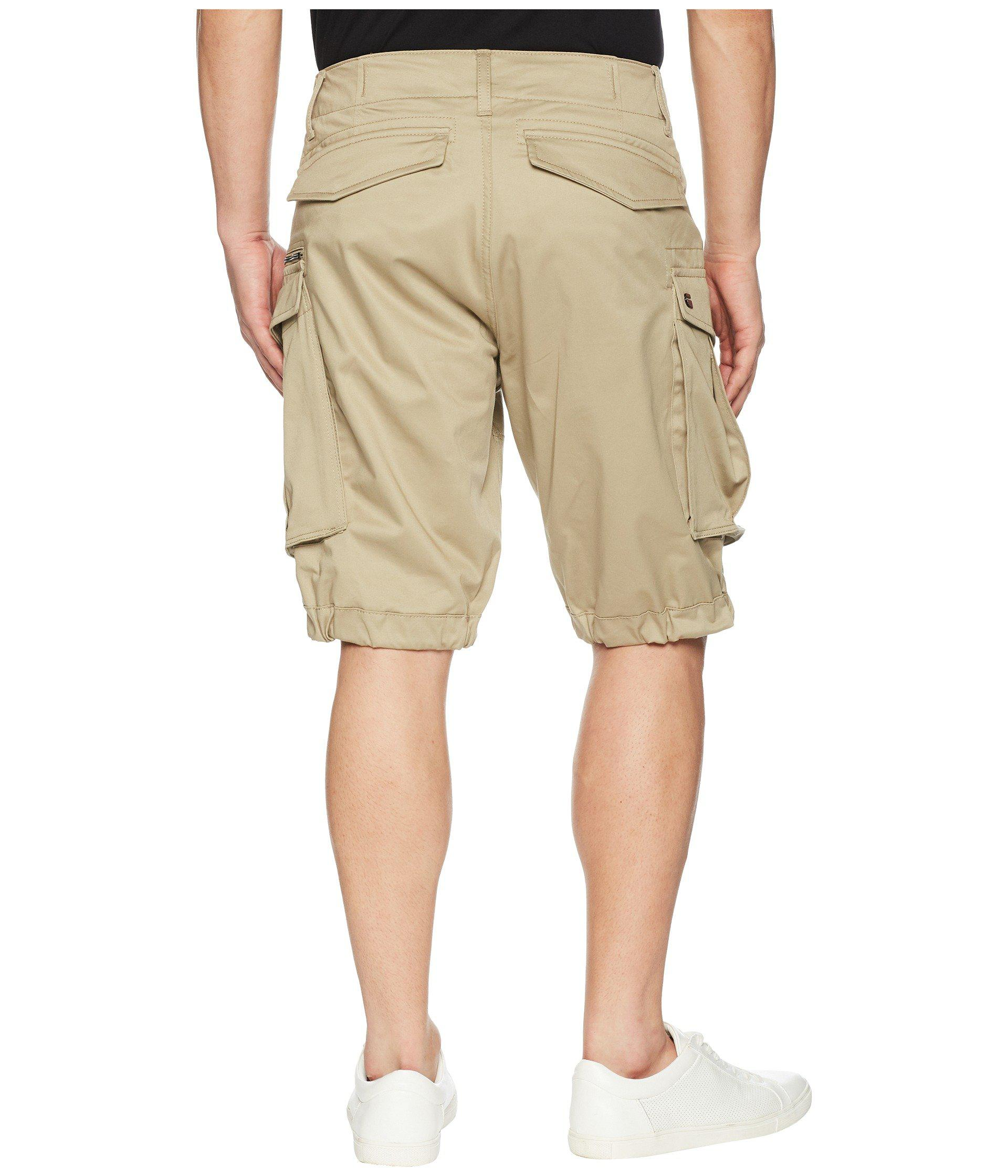 1573de856e G-Star RAW Rovic Zip Loose 1/2 Shorts (sage) Men's Shorts in Natural ...