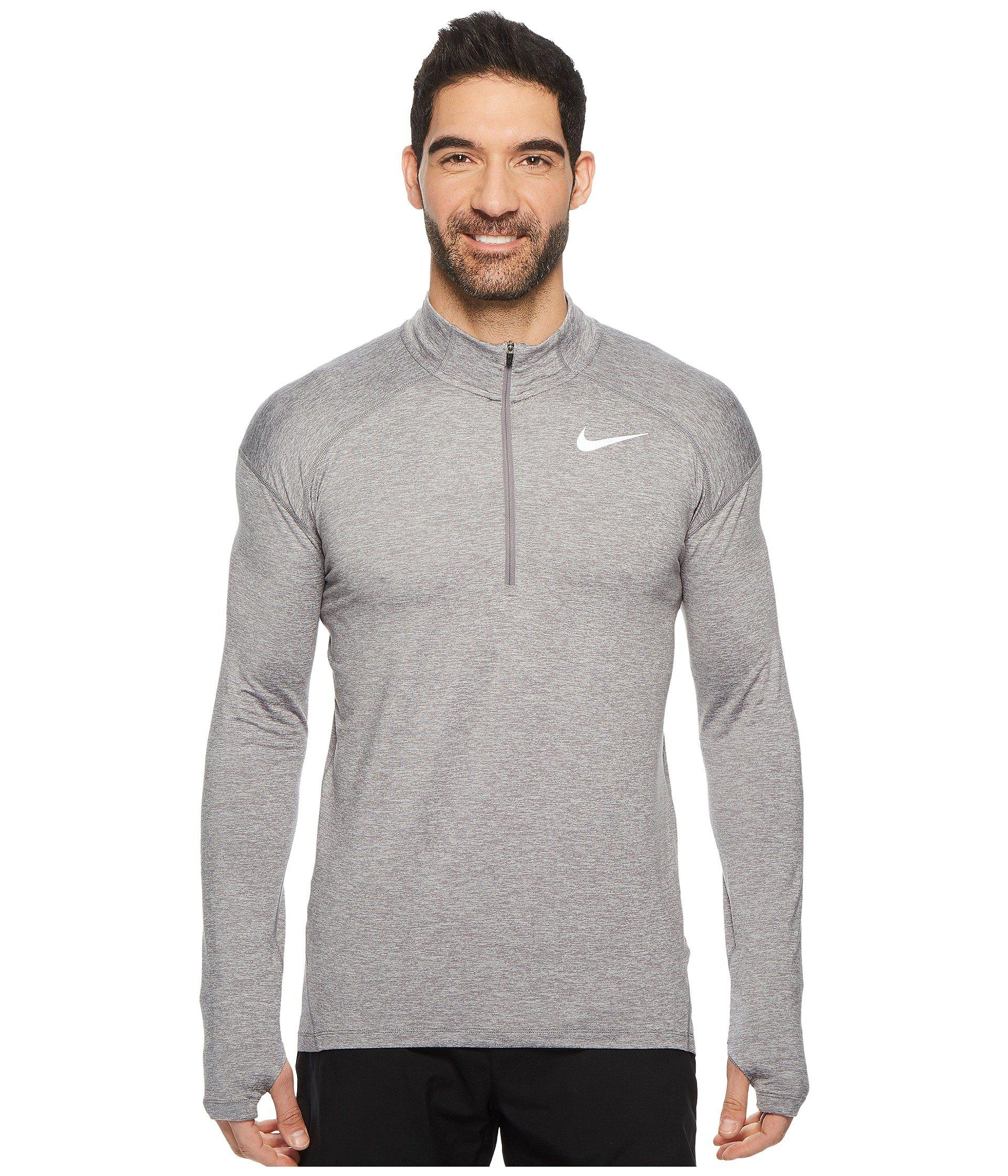 b0b7aa4f1 Nike Dry Element 1/2 Zip Running Top (gunsmoke/atmosphere Grey ...