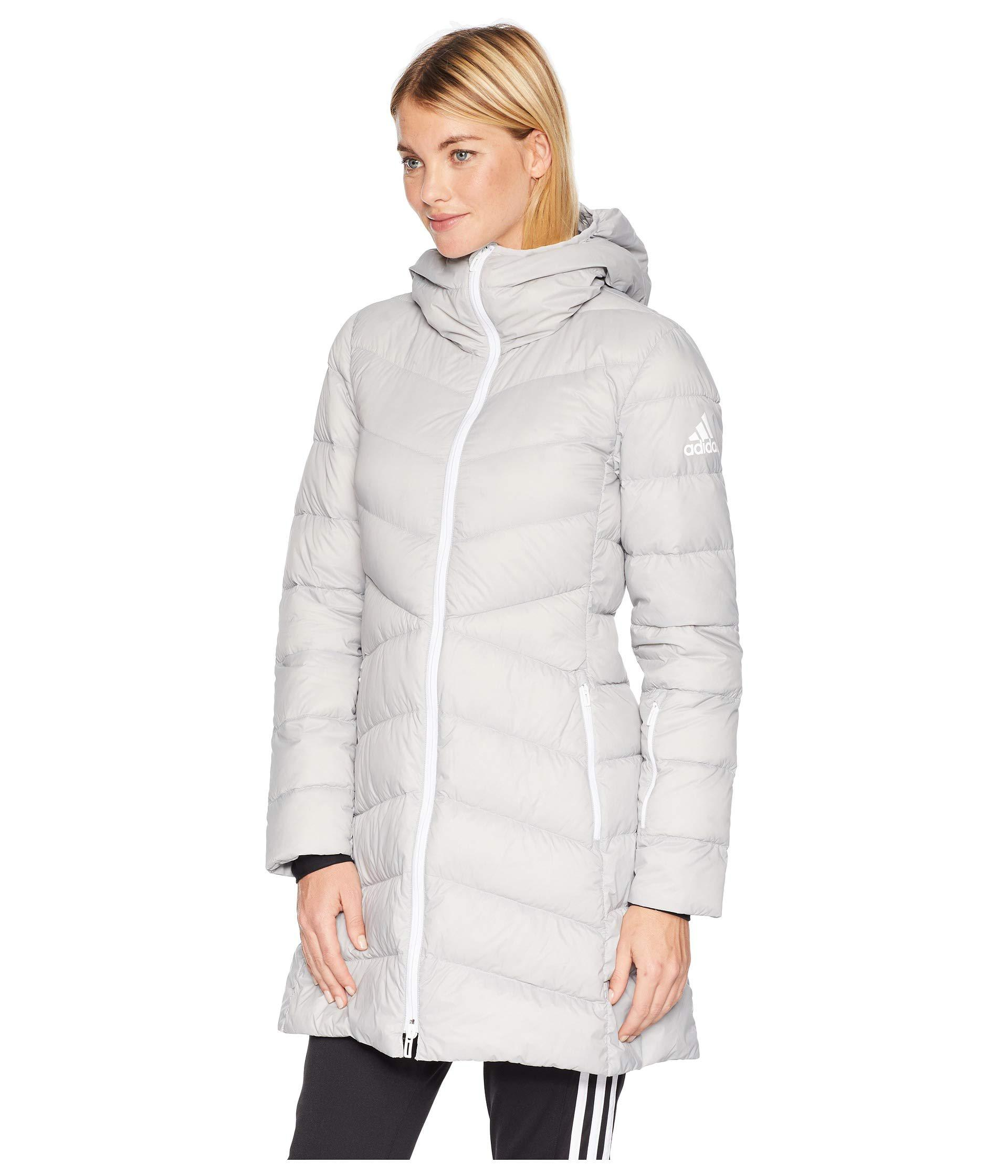 Lyst - Adidas Originals Climawarm(r) Hyperdry Nuvic Jacket (grey Two) Women s  Coat in Gray 2aebcaa471