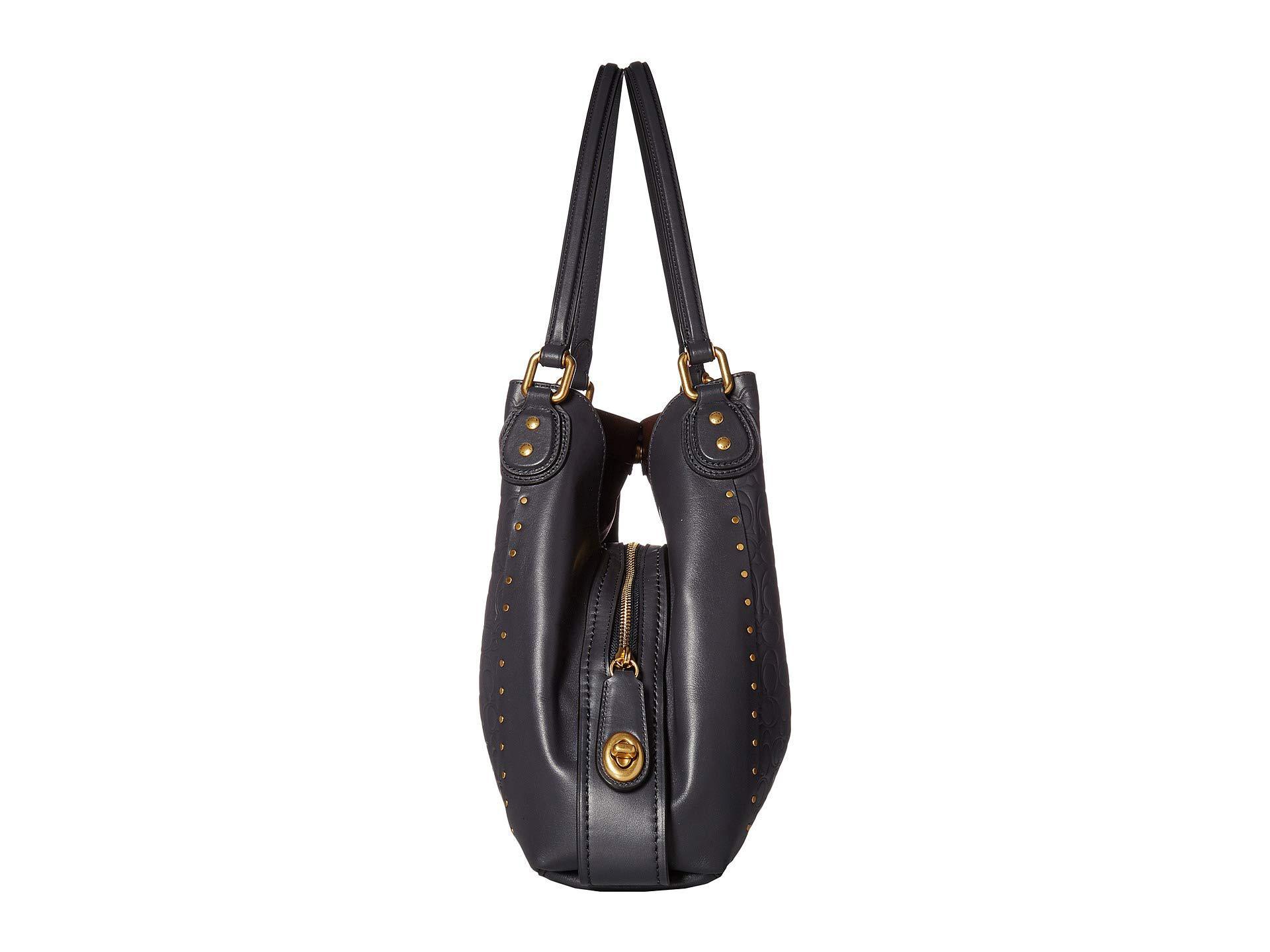 97fa0ec52f7a COACH - Black Edie 31 Shoulder Bag In Signature Leather (b4 midnight Navy).  View fullscreen