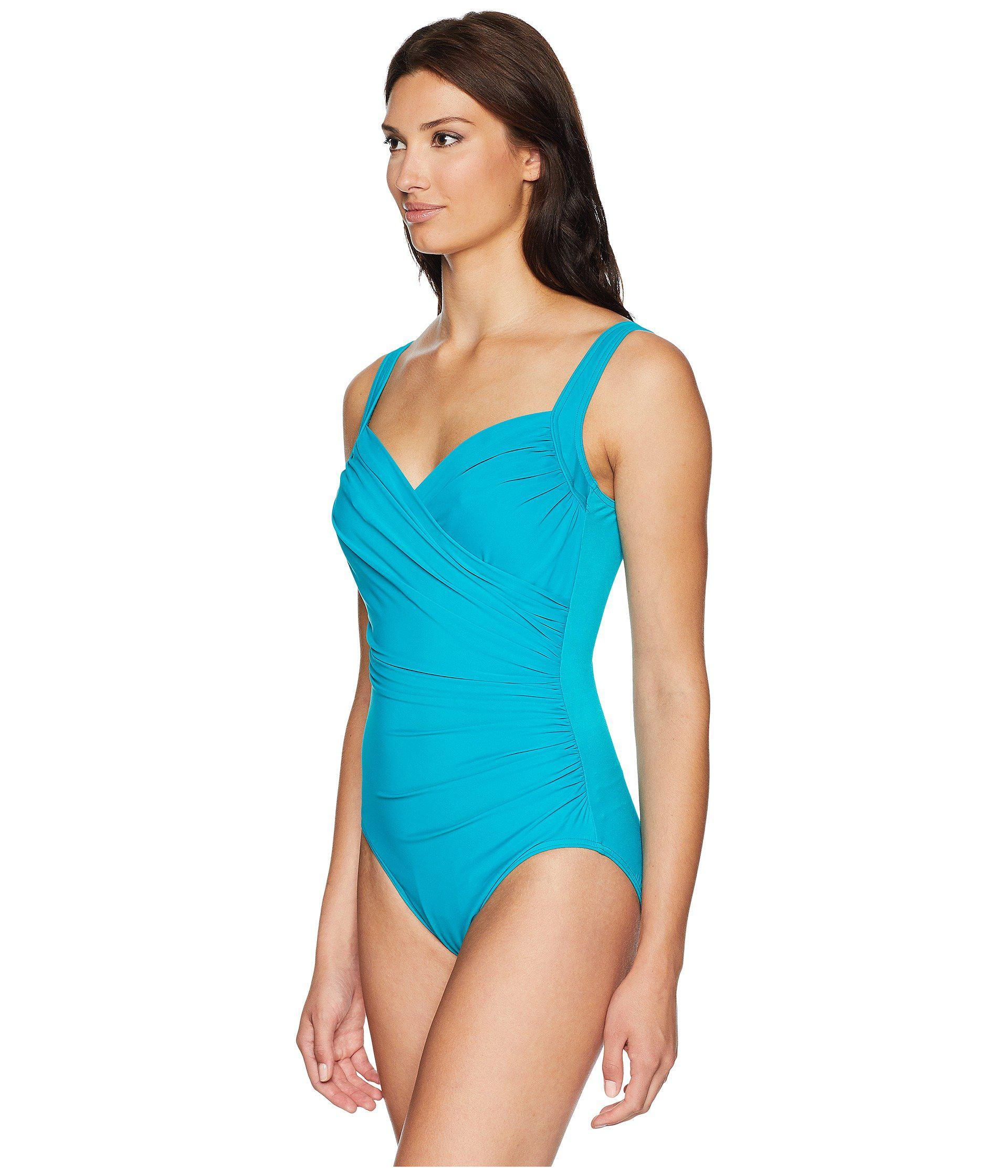 22eeec3ae5a2c Lyst - Miraclesuit Must Have 19 Sanibel One-piece (amalfi) Women's  Swimsuits One Piece in Blue