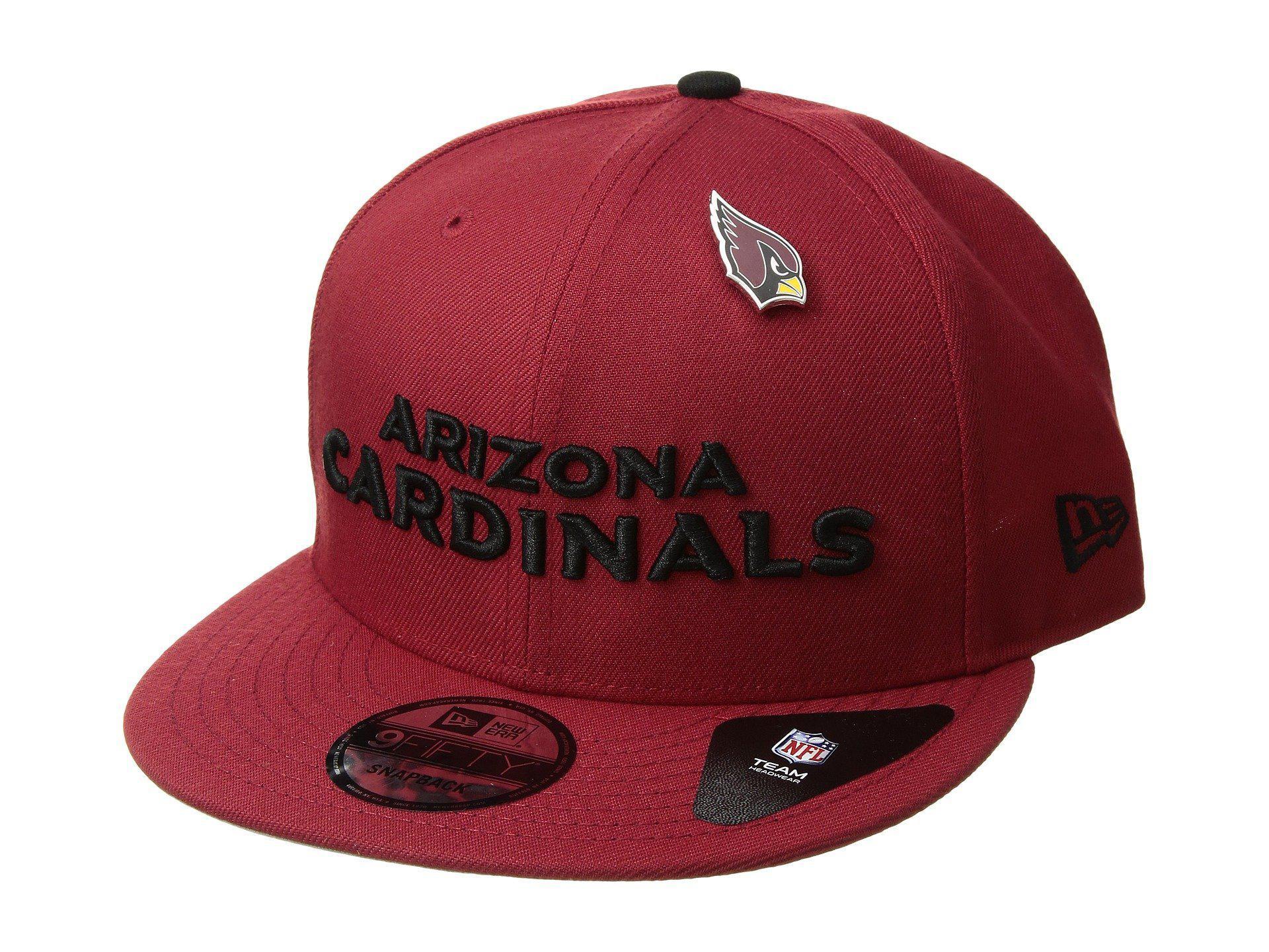feafd8ff660 Lyst - Ktz Arizona Cardinals Pinned Snap (dark Red) Baseball Caps in ...