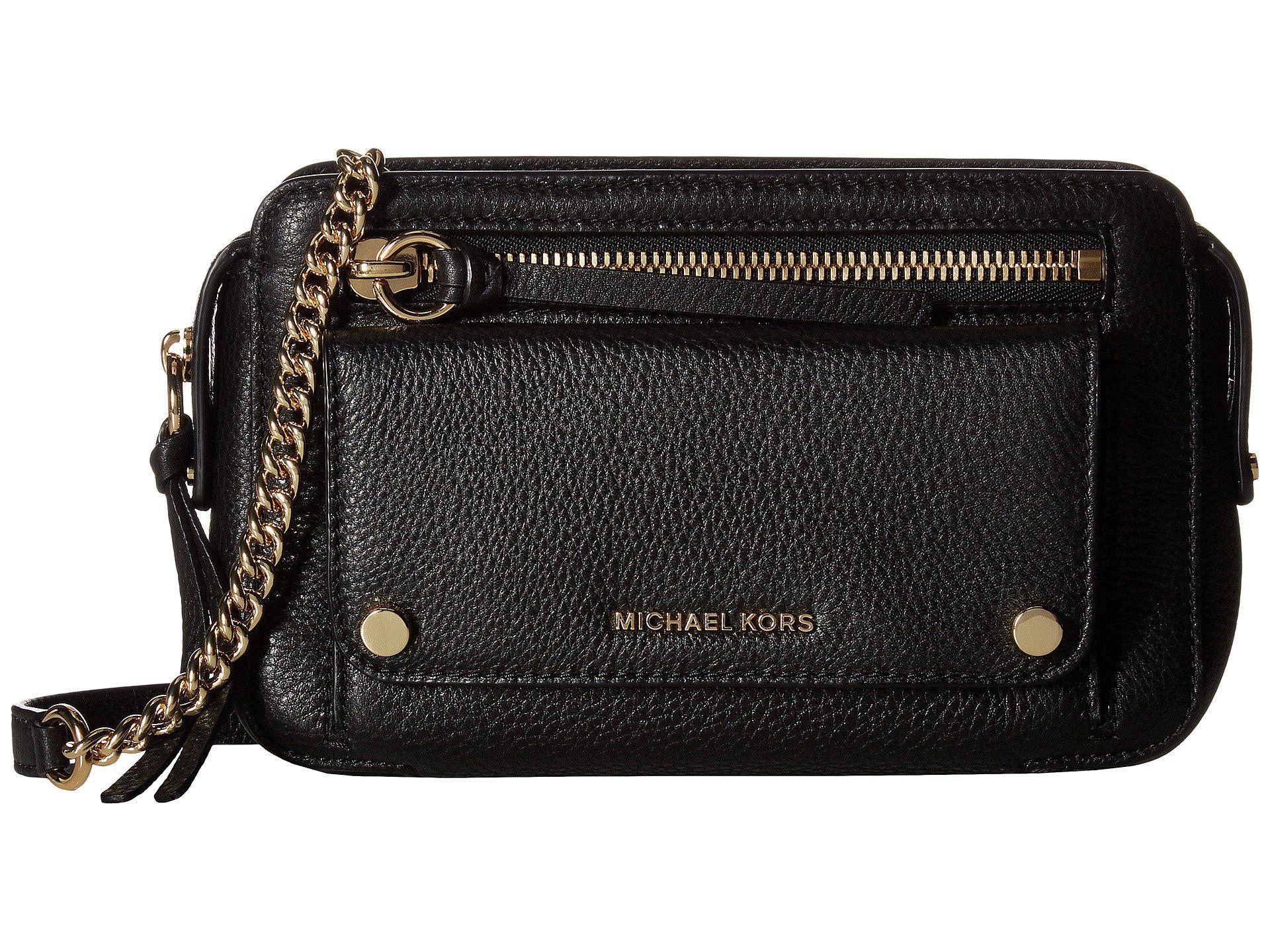 b1fab9dc6a08 MICHAEL Michael Kors Mitchell Medium Messenger in Black - Lyst
