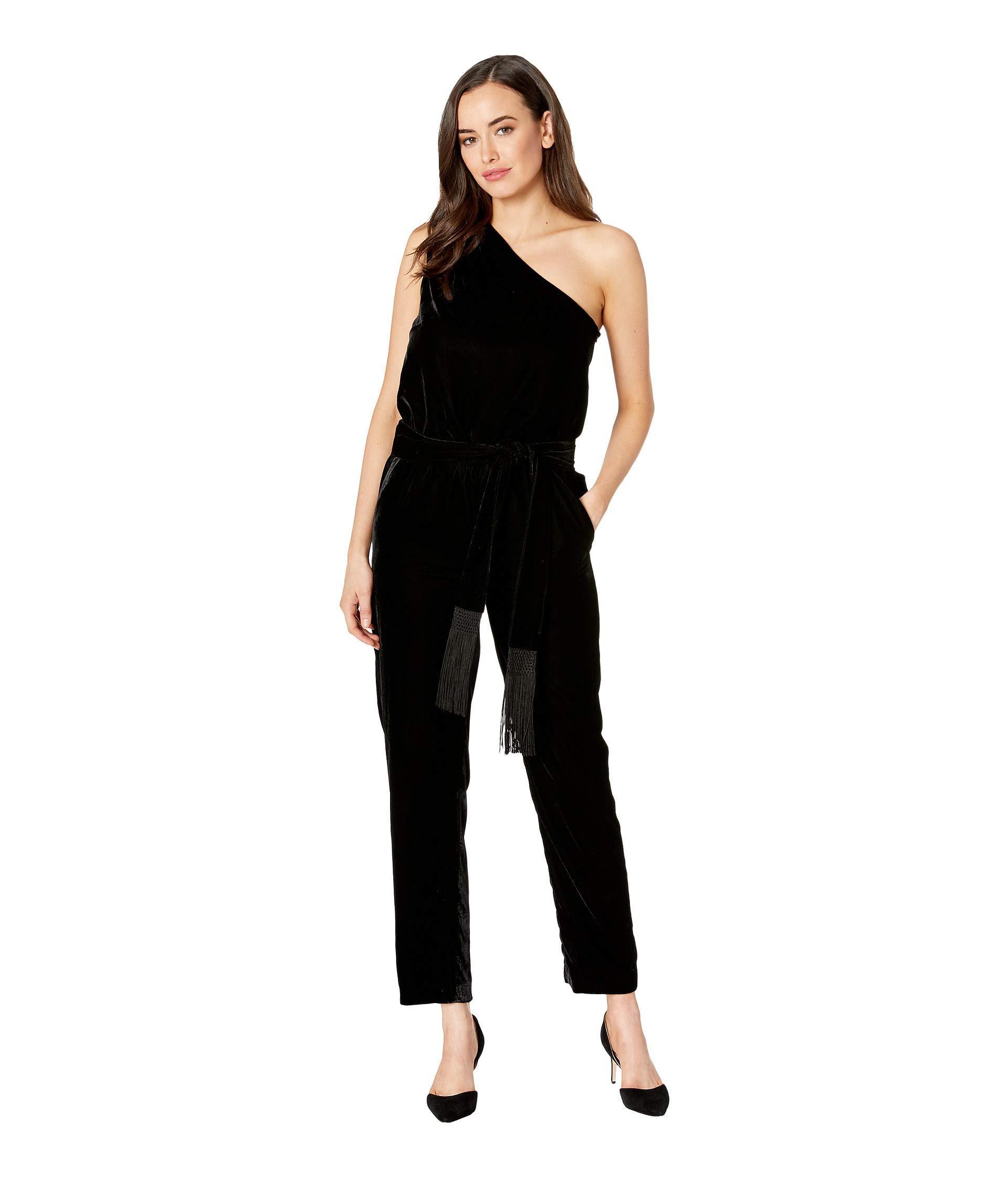 32dec527ac23 Lauren by Ralph Lauren. Velvet One-shoulder Jumpsuit (polo Black) Women s  Jumpsuit   Rompers One Piece