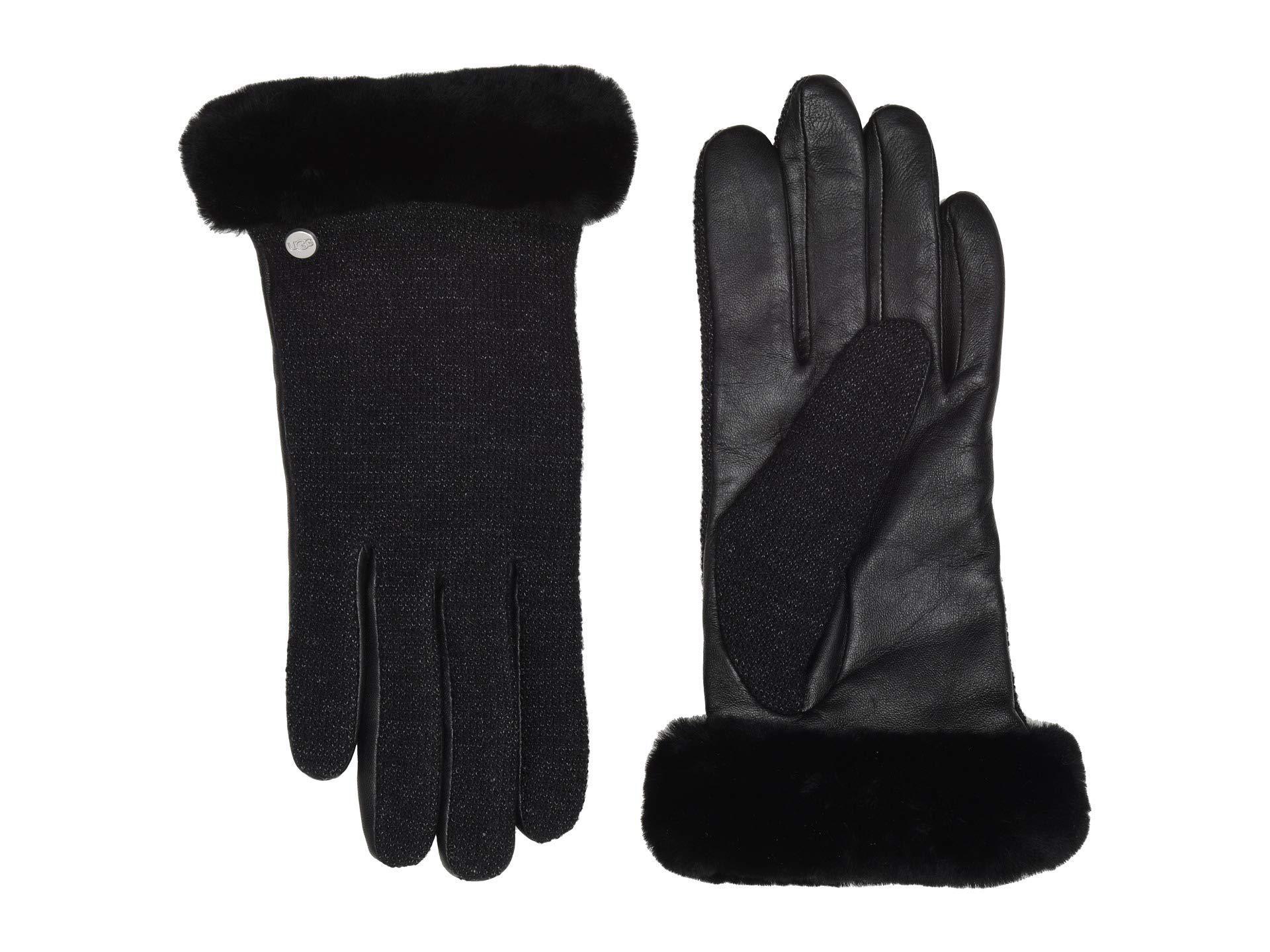 Ugg Women S Short Italian Wool Blend Tech Gloves