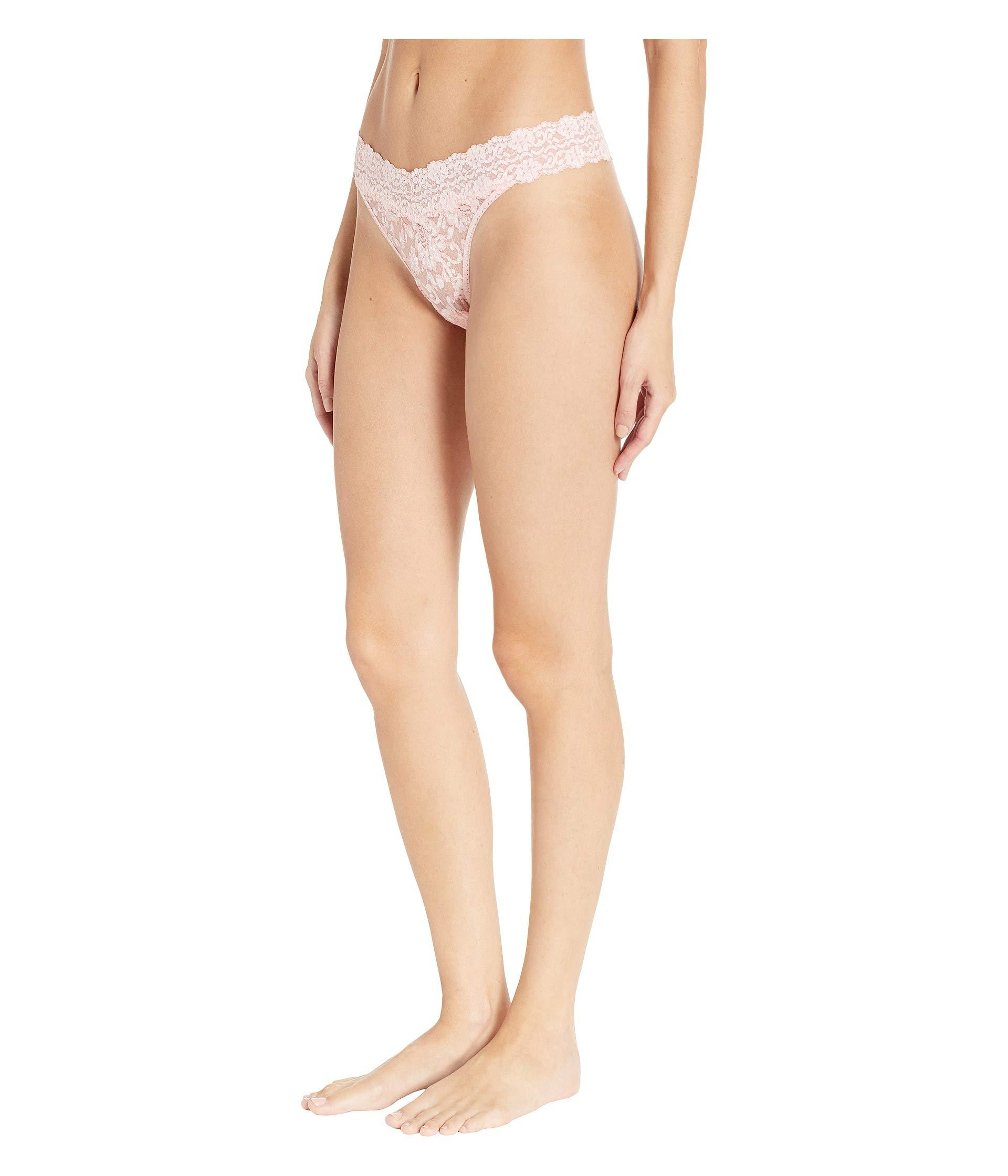 Lyst - Hanky Panky Cross-dyed Signature Lace Original Rise Thong  (taupe vanilla) Women s Underwear in Natural 196496c7b