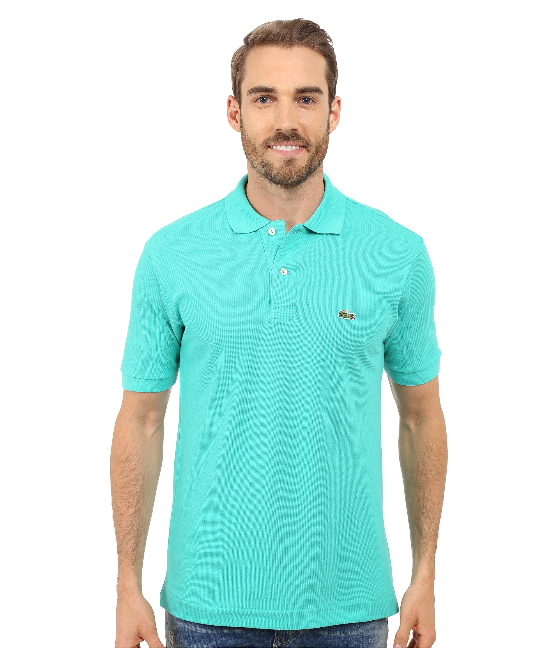 a1b8f70f Lacoste L1212 Classic Pique Polo Shirt in Green for Men - Lyst