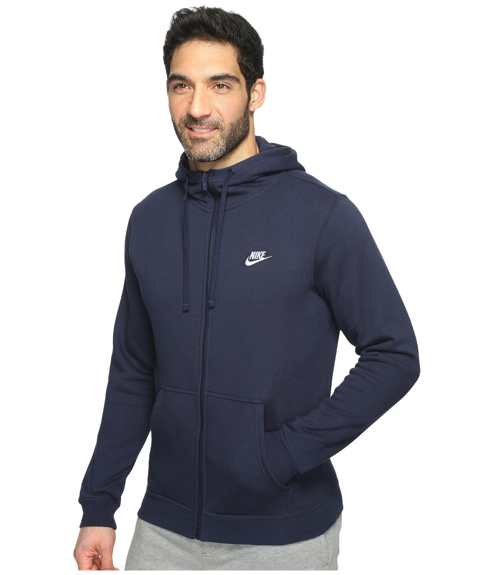 b847929fa983 Lyst - Nike Club Fleece Full-zip Hoodie (charcoal Heather charcoal  Heather white) Men s Fleece in Blue for Men