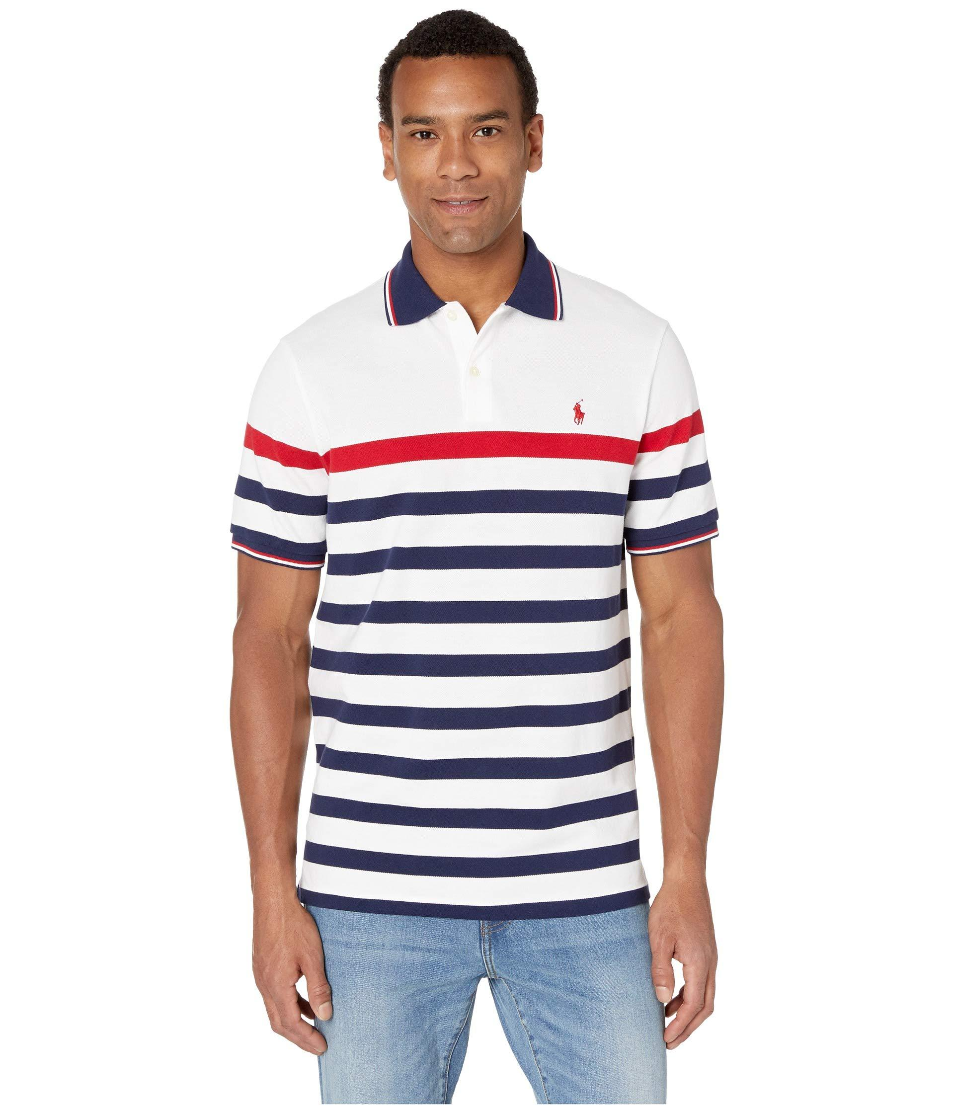 3eaa2e47 Lyst - Polo Ralph Lauren Short Sleeve Classic Fit Mesh Polo (white ...