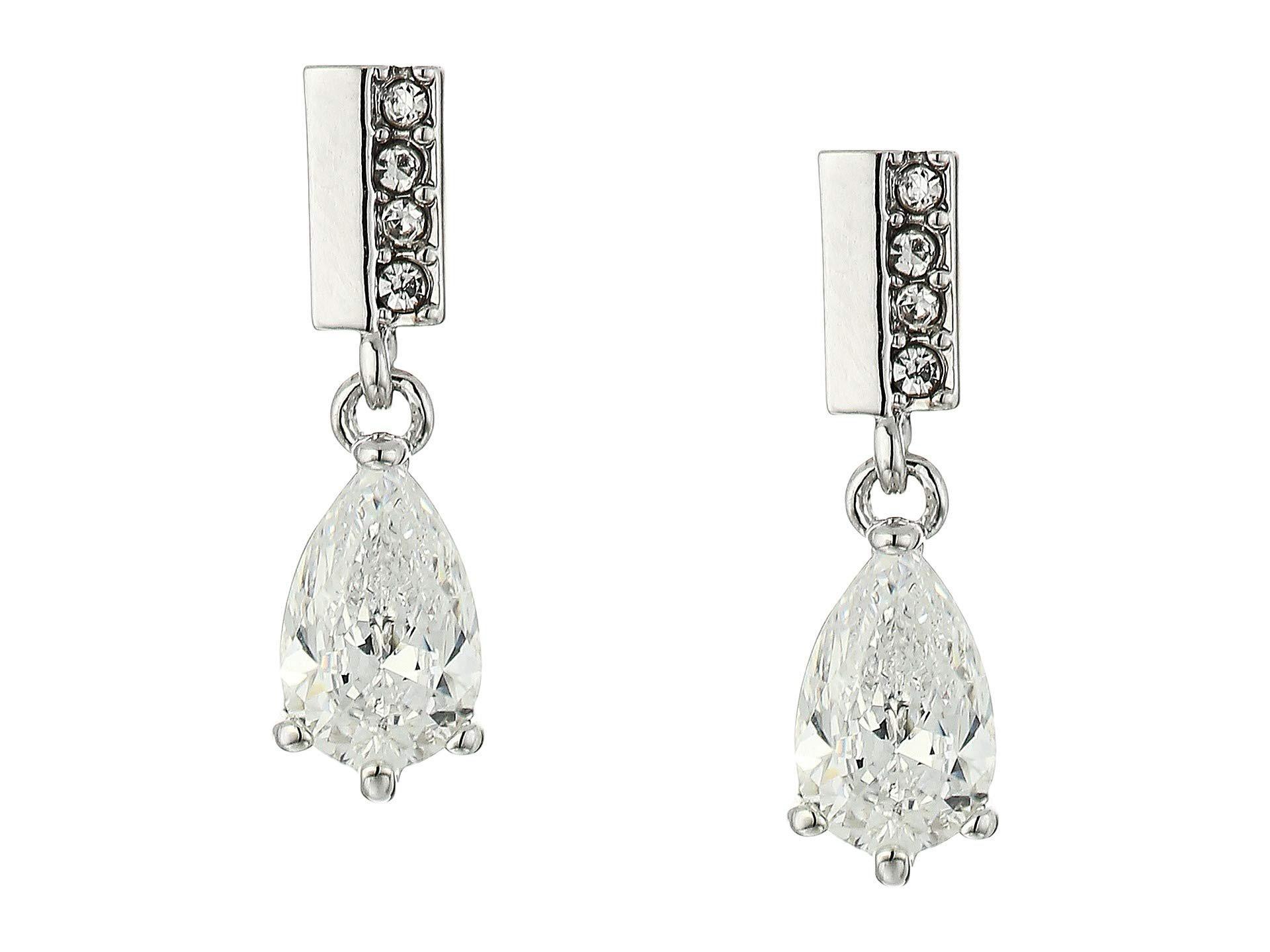 df5830953ed Lyst - Vince Camuto Post Short Drop Earrings (rhodium crystal) Earring