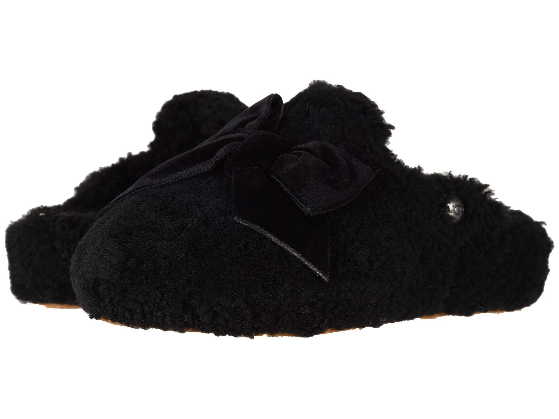 ea15a6c826d3 Lyst - Ugg Addison Velvet Bow Slipper (port) Women s Slippers in Black