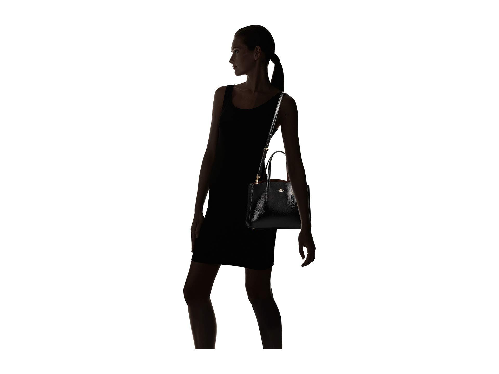 ... usa coach charlie carryall in crossgrain patent leather li black  handbags lyst. view fullscreen 83bb3 332df4fb70