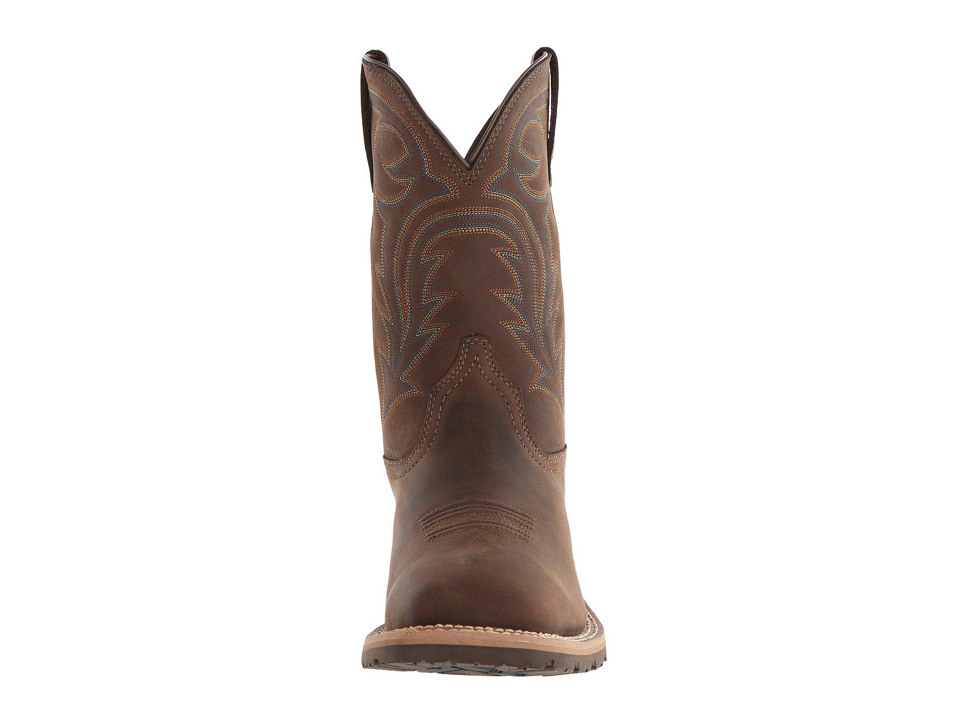 e782dae653f Lyst - Ariat Hybrid Rancher Waterproof (oily Distressed Brown ...