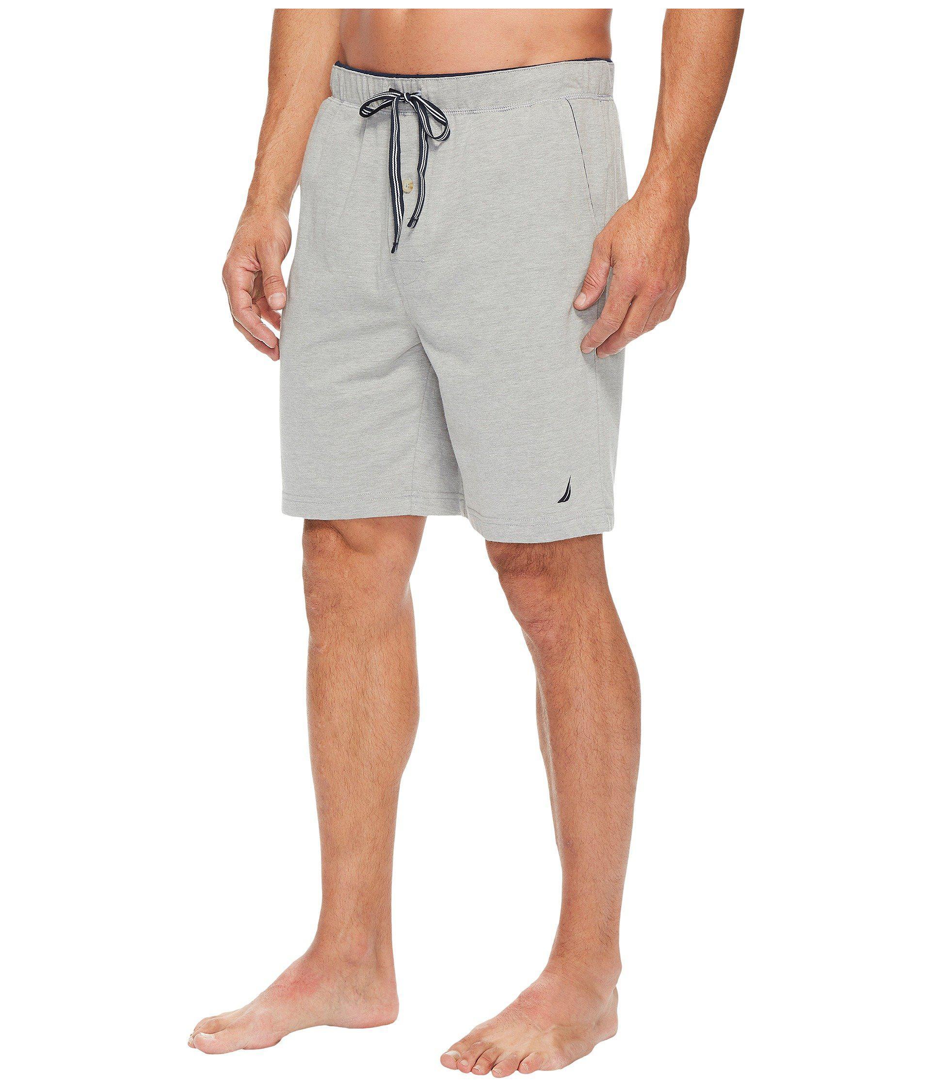 56a3e2a6f6 Lyst - Nautica Knit Sleep Shorts (grey Heather) Men s Pajama in Gray for Men