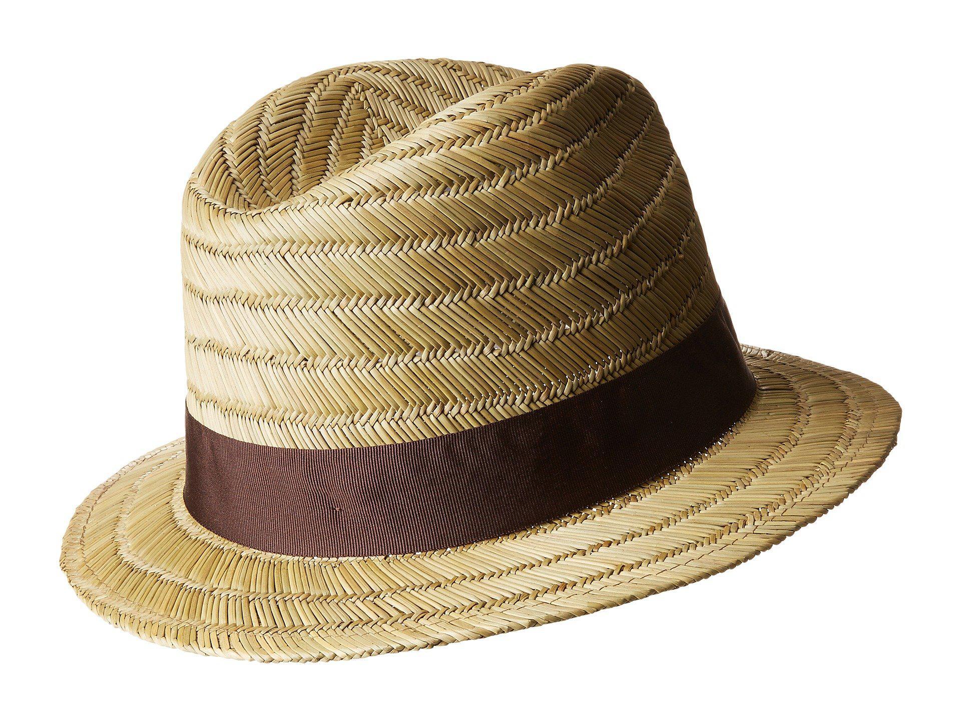 5c996cf7b872a Lyst - Brixton Rollins Fedora (tan) Fedora Hats
