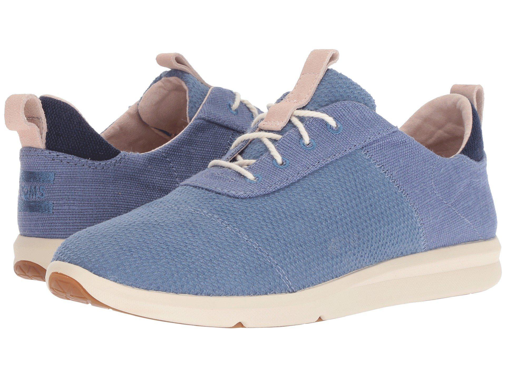 3e0534ce4e6781 TOMS. Blue Cabrillo (drizzle Grey Chambray Mix) Women s Lace Up Casual Shoes