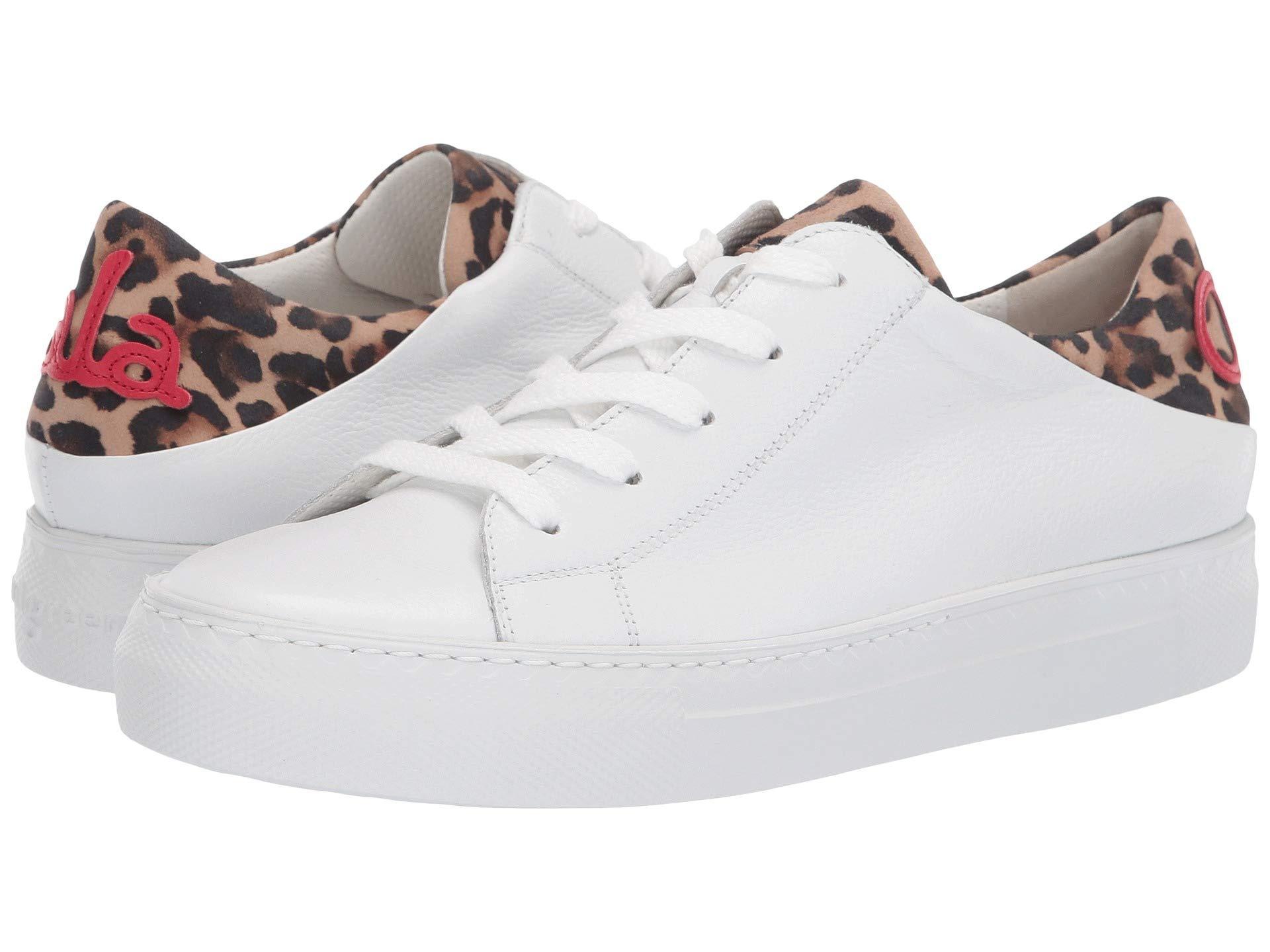 f7517ff89cd8 Lyst - Paul Green Ajay Sneaker (white Leopard Combo) Women's Lace Up ...