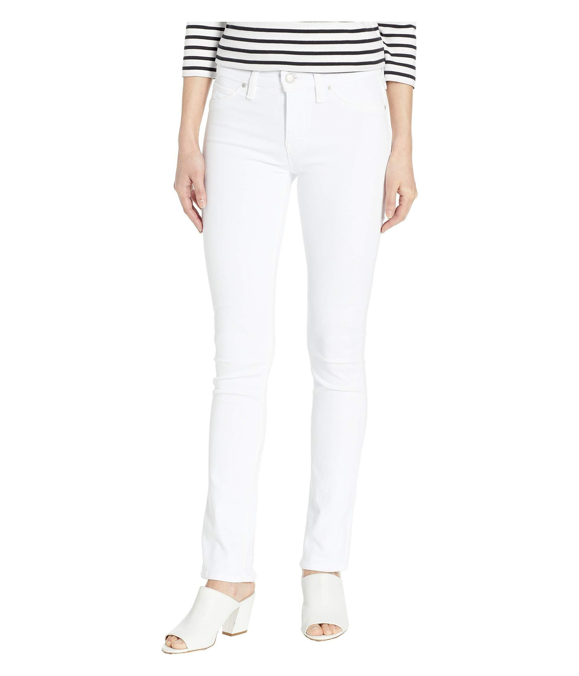 68af88ad3e74 Lyst - Hudson Jeans Nico Ankle With Back Open Lace Detail In White ...