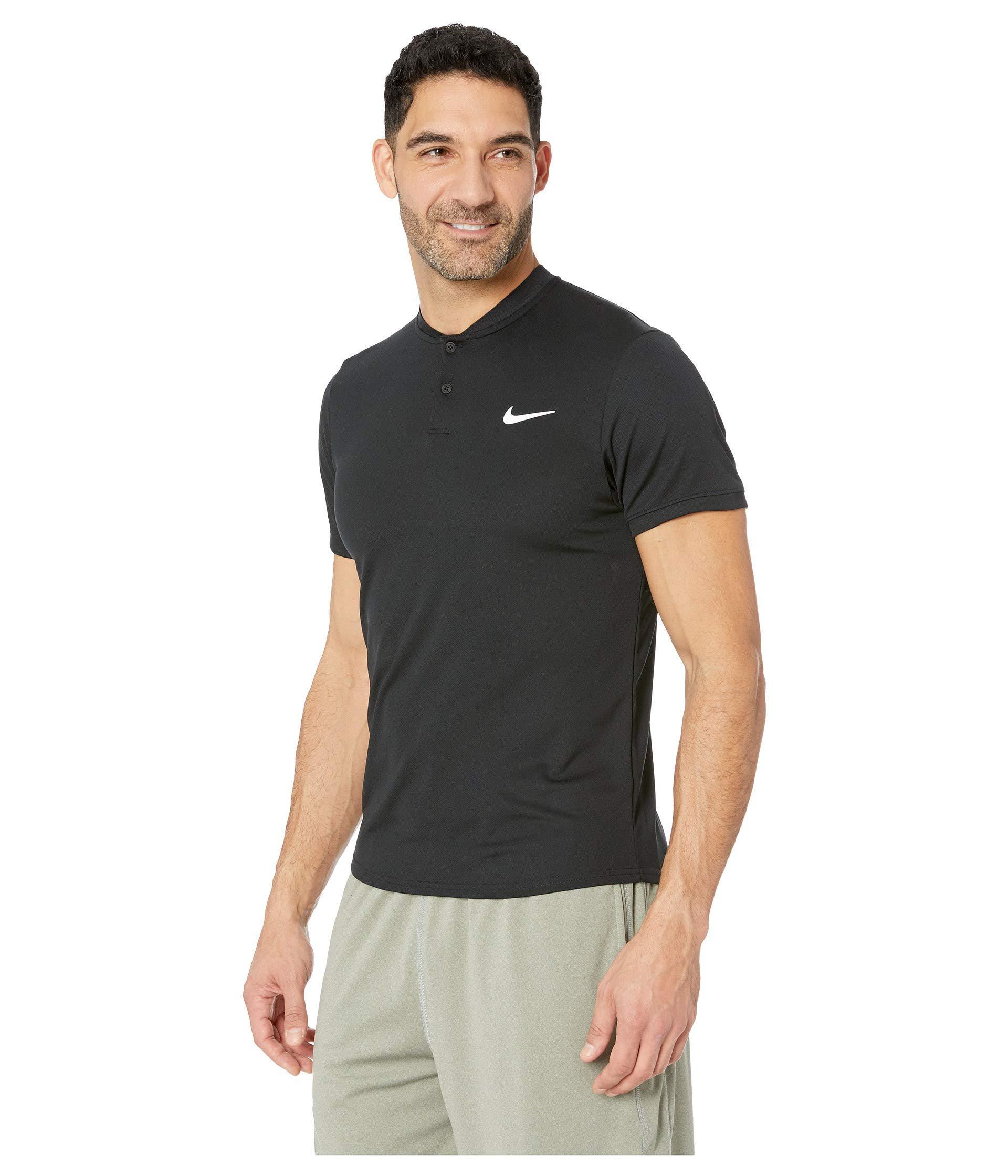 b7bd6fa1 Lyst - Nike Court Dry Polo Blade (black/white) Men's Clothing in Black for  Men
