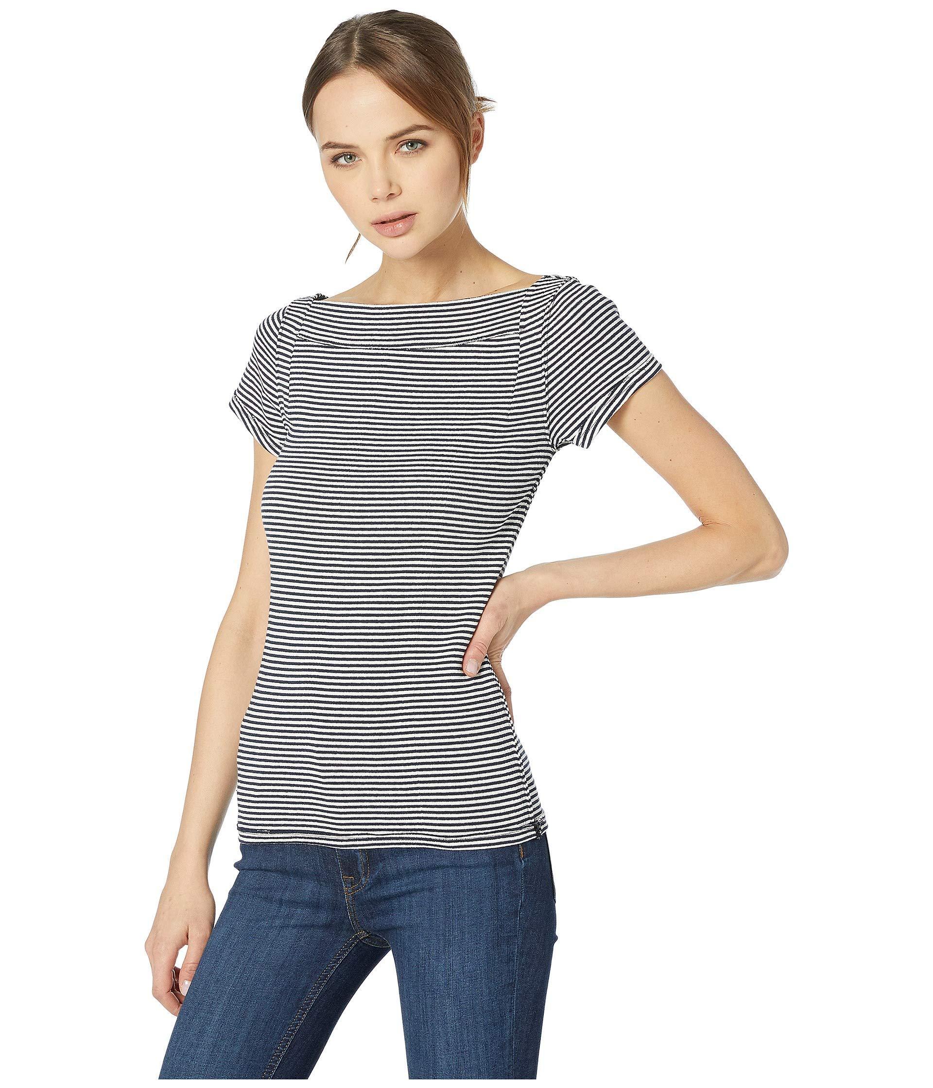 597b627c98a03 Lyst - Free People Ahoy Tee Stripe (navy) Women s T Shirt in Blue