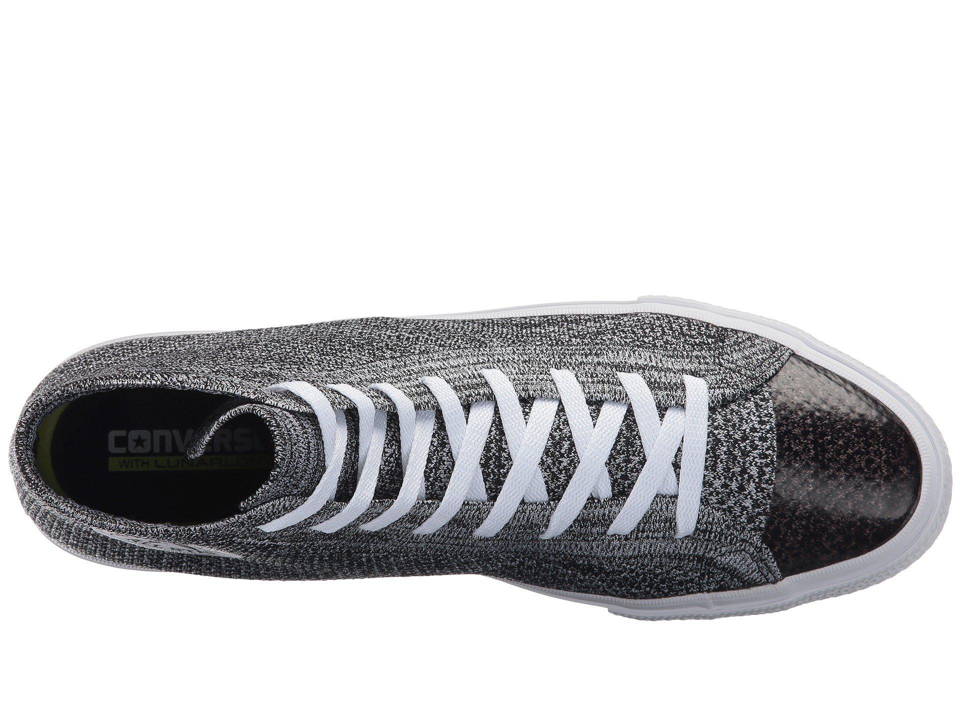 ecd1ab2eb6a07a Lyst - Converse Chuck Taylor® All Star® X Nike Flyknit Hi in Gray