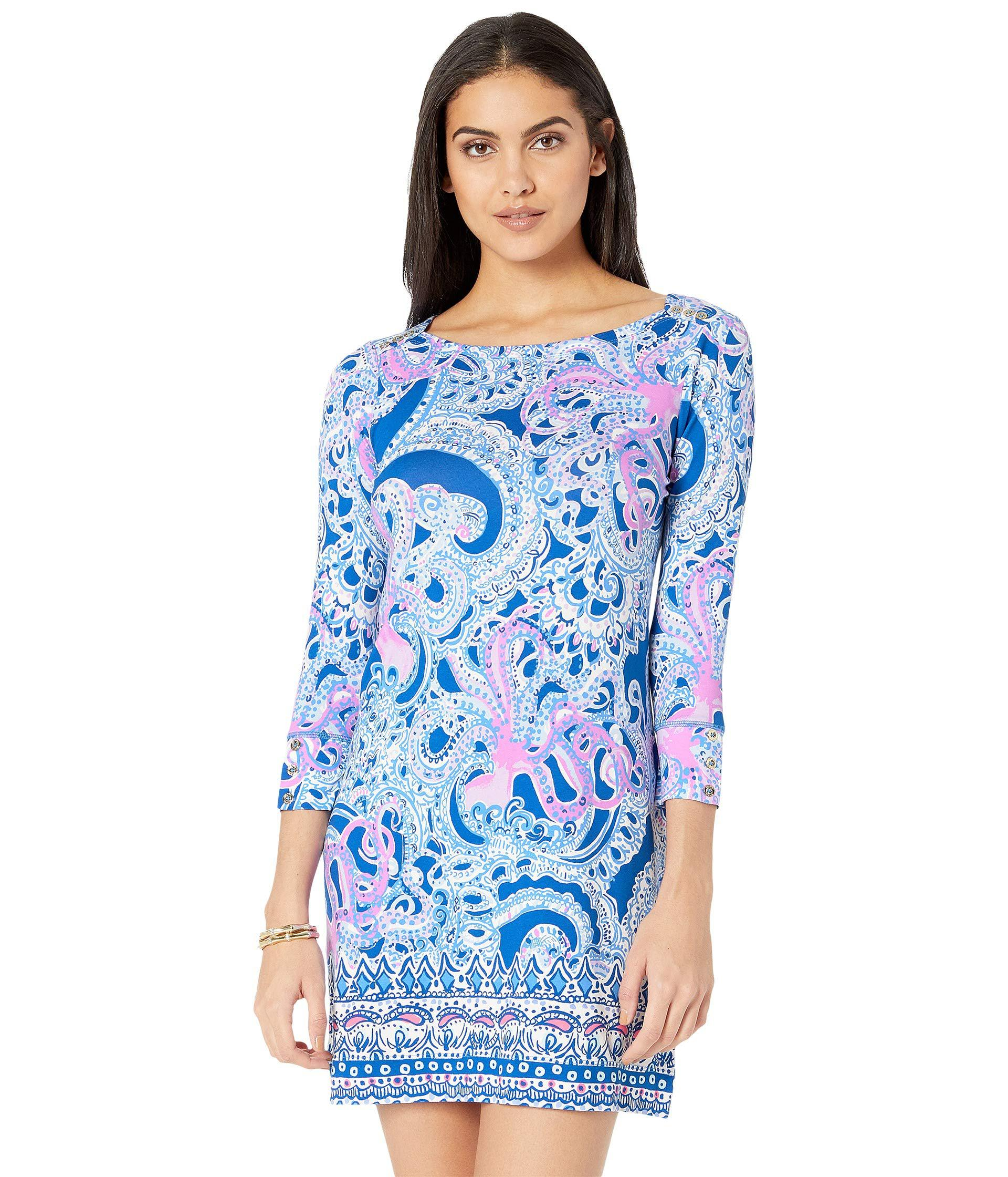 37211a902eefb Lyst - Lilly Pulitzer Upf 50+ Sophie Dress (bright Navy In Too Deep ...
