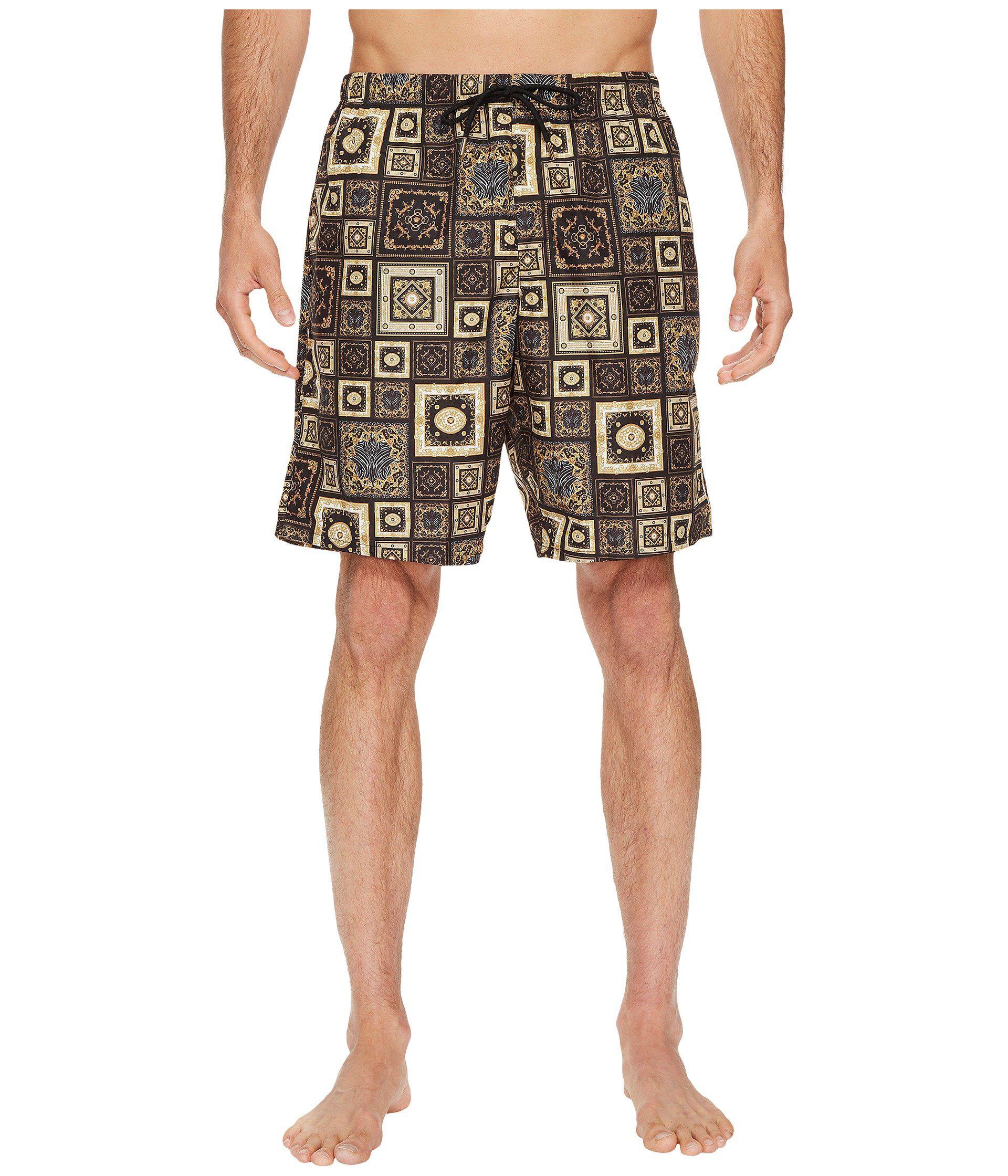 e6e41ca463 Lyst - Versace Printed Beach Long Shorts in Black for Men
