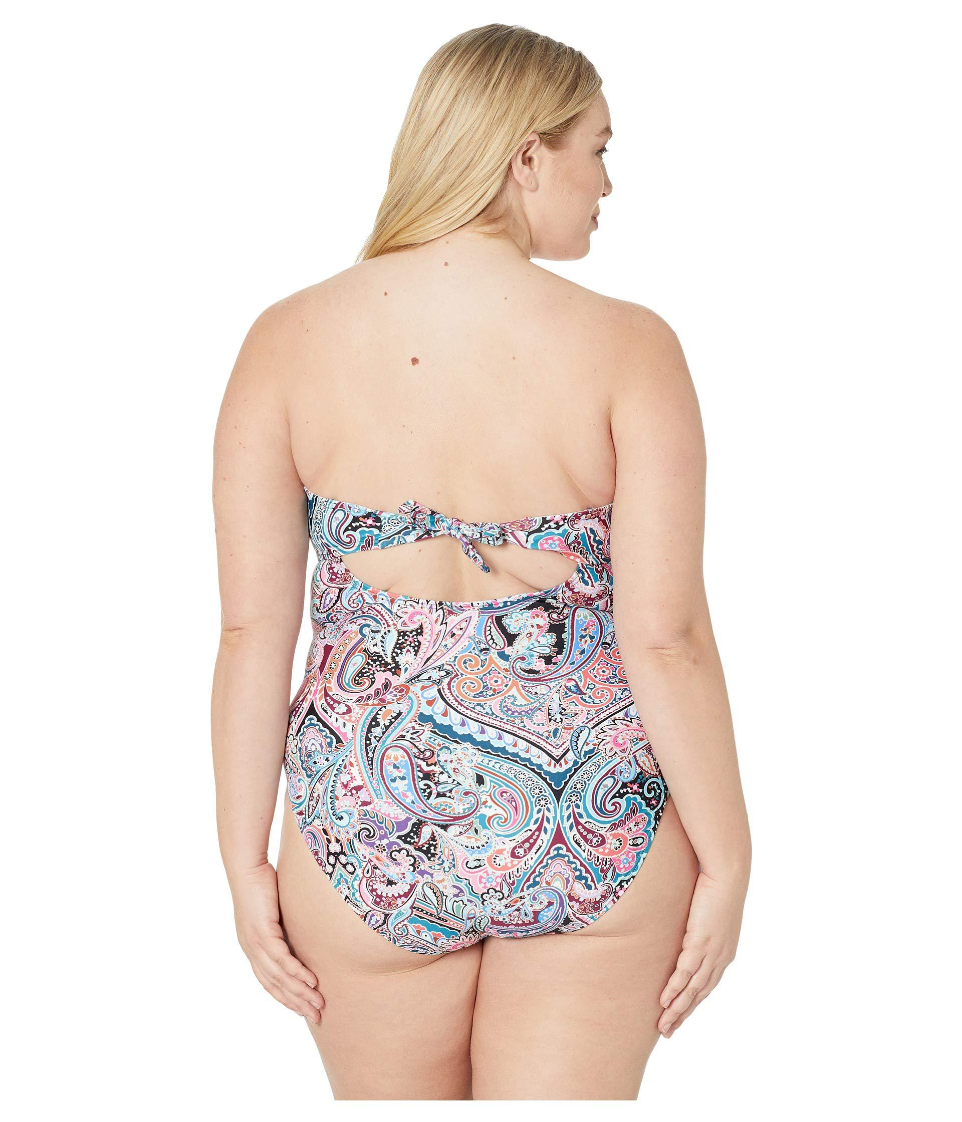 4d2af0e94f La Blanca - Plus Size Swirling Around Bandeau One-piece (multicolored)  Women s Swimsuits. View fullscreen