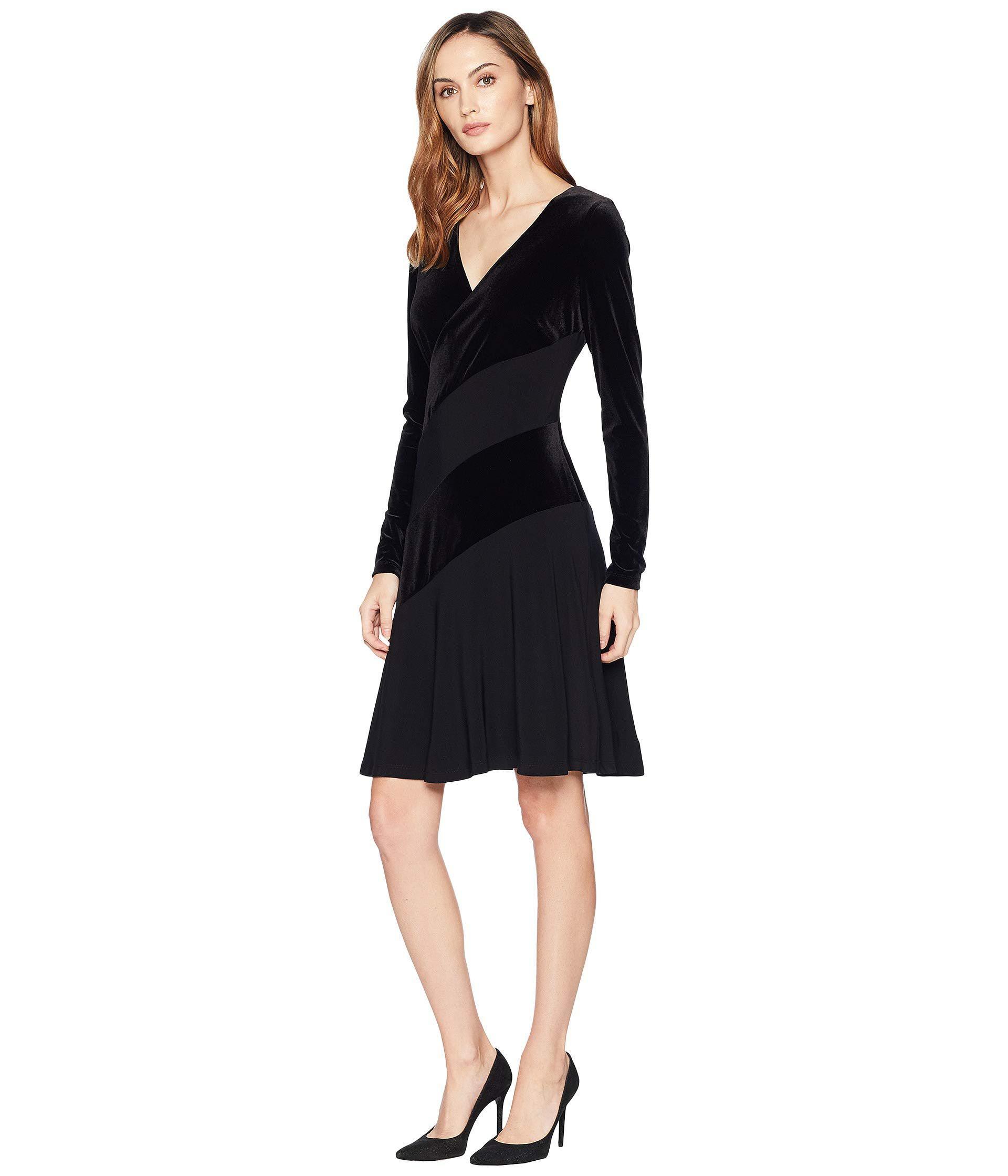 Lyst Lauren By Ralph Lauren Elvarina Dress Black Black Women S