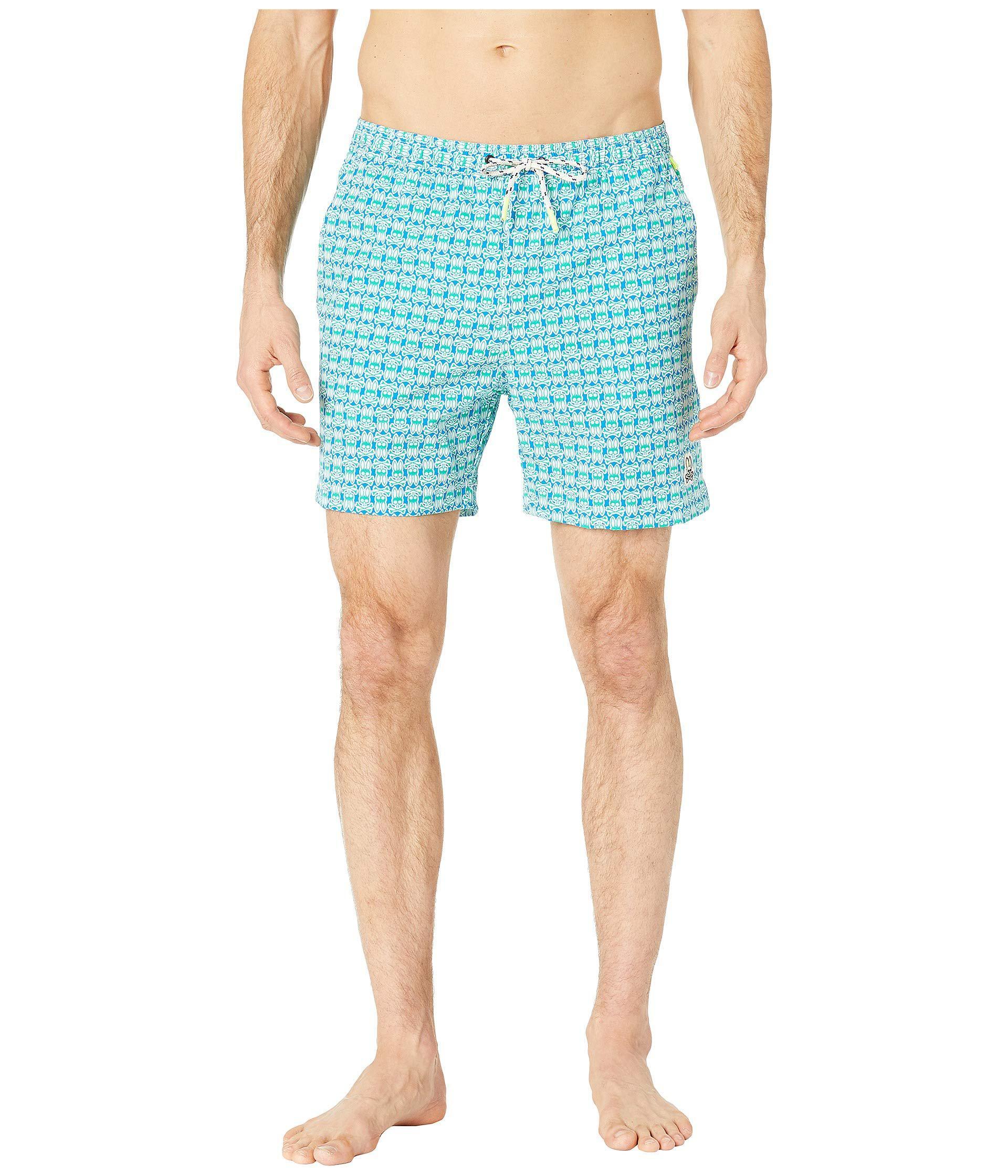 2a216203f7 Lyst - Psycho Bunny Bunny Print Swim Trunks (aegean) Men's Swimwear ...