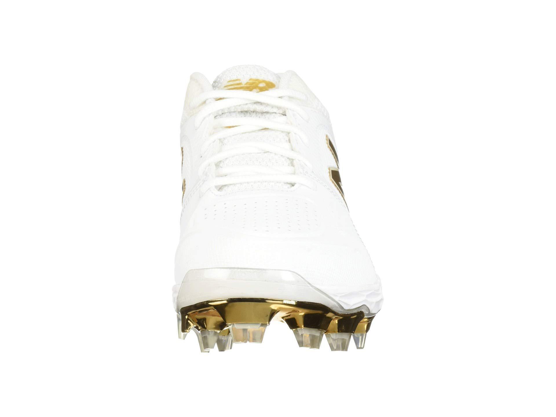 buy online f09e1 78b91 Lyst new balance fresh foam spvelov white gold womens cleated jpg 1920x1440  Gold softball cleats