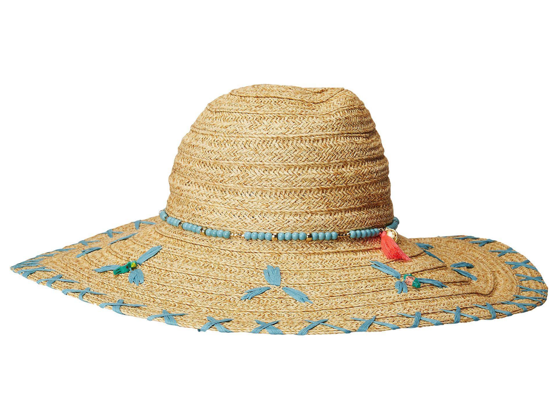 8c1fe60422ac4 San Diego Hat Company. Women s Ubl6805os Sun Brim W  Turquoise Bead Trim ...