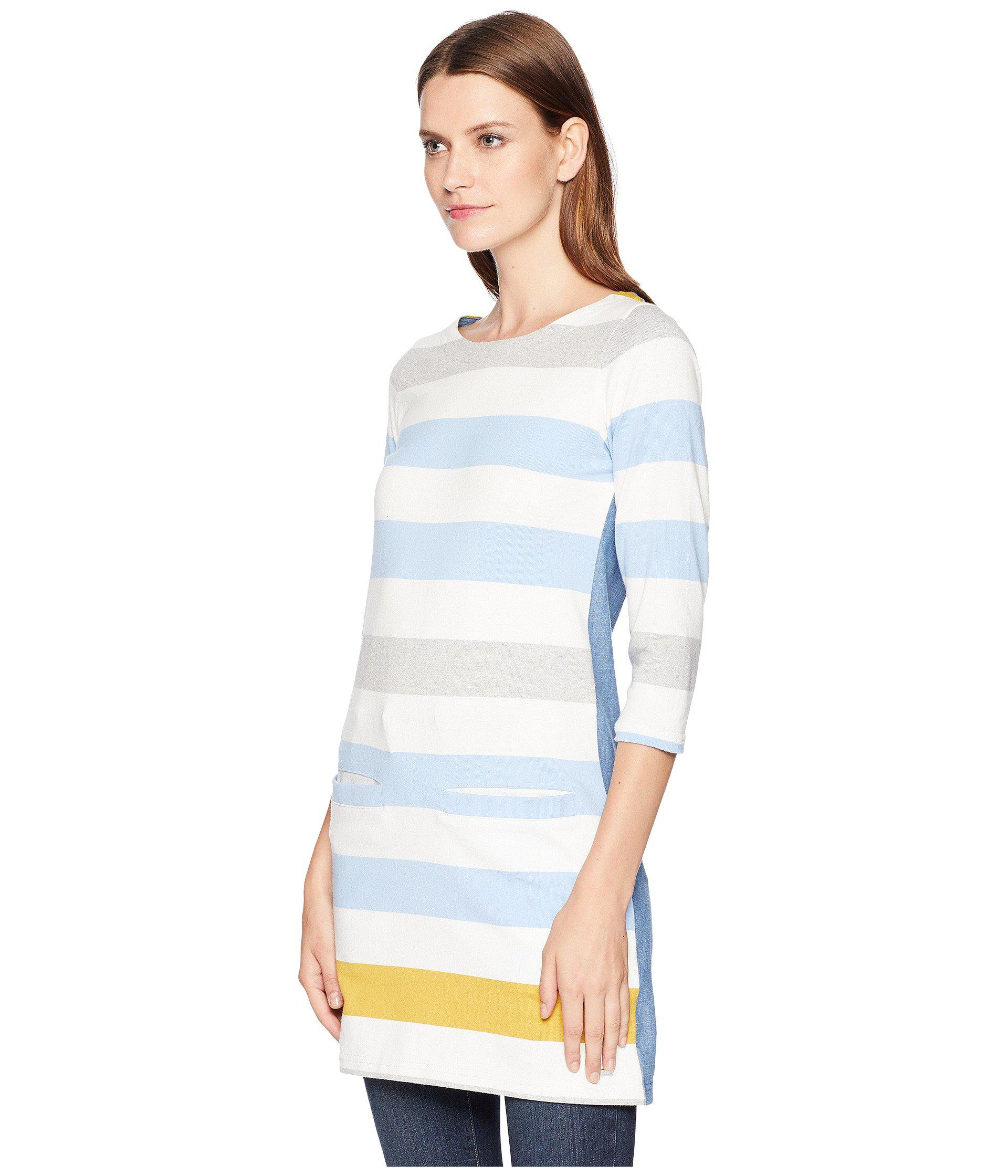 739a84878a8 Lyst - Joules Jade Jersey/woven Mix Tunic (blue Gold Bold Stripe ...