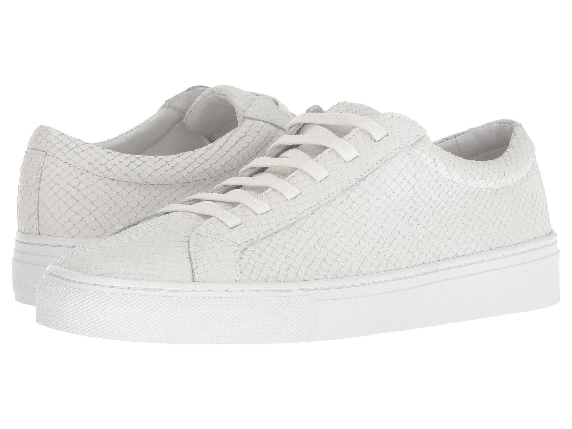 Via Spiga Suvi 2 Embossed Snake Leather Sneakers QcEy3
