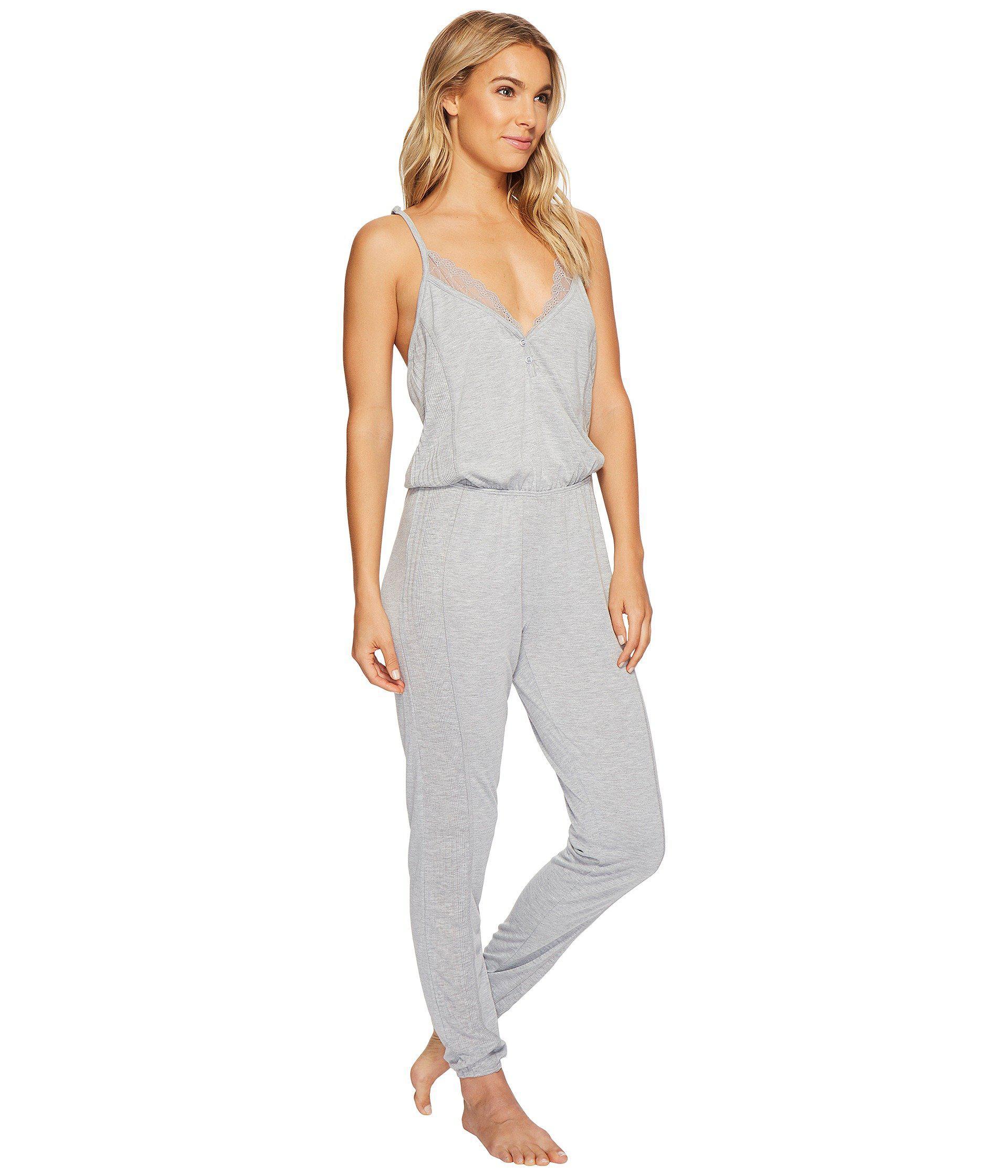 11300a0b3682 Lyst - Splendid Always Long Lace Back Pajama Romper (black) Women s ...