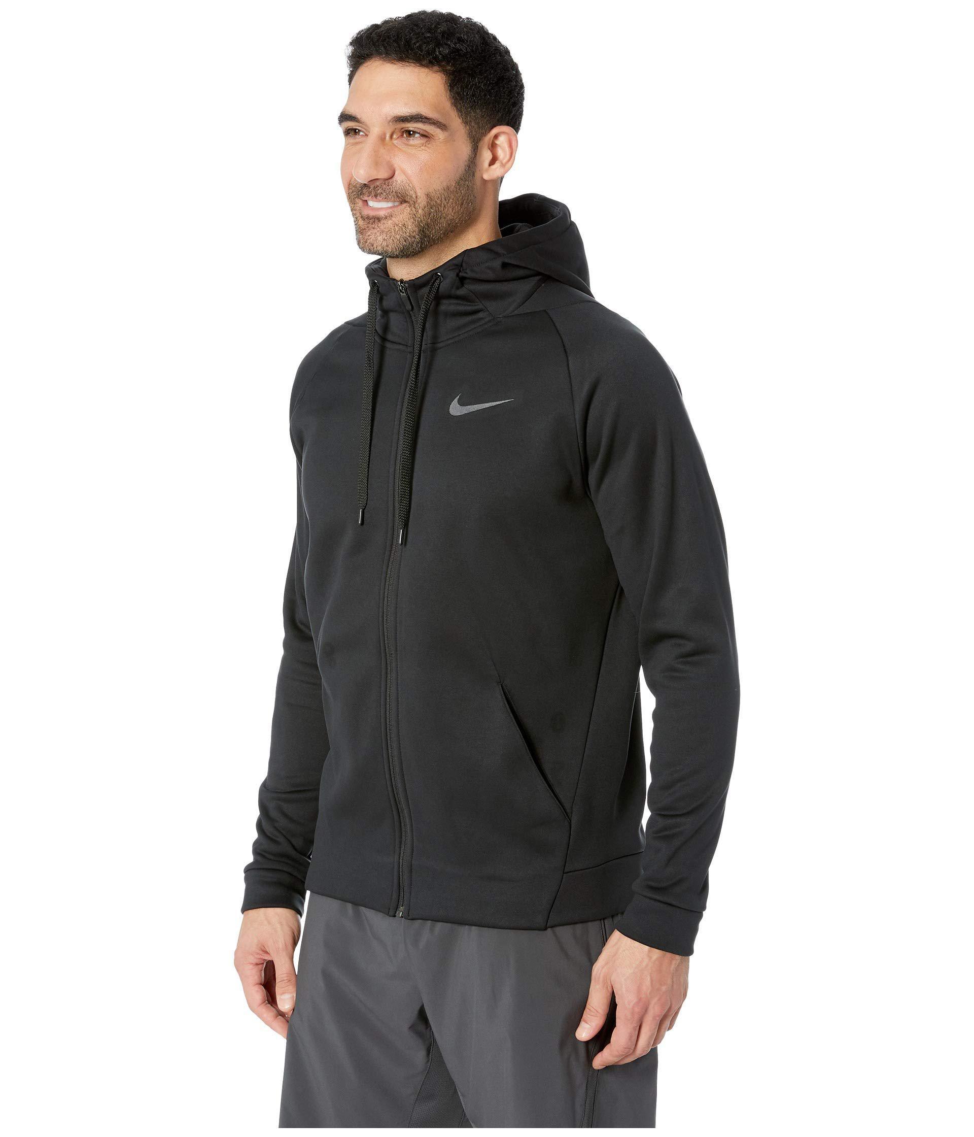 4aa9214bebc Lyst - Nike Dri-fit Therma Men s Full-zip Training Hoodie (charcoal Heather  black) Men s Sweatshirt in Black for Men